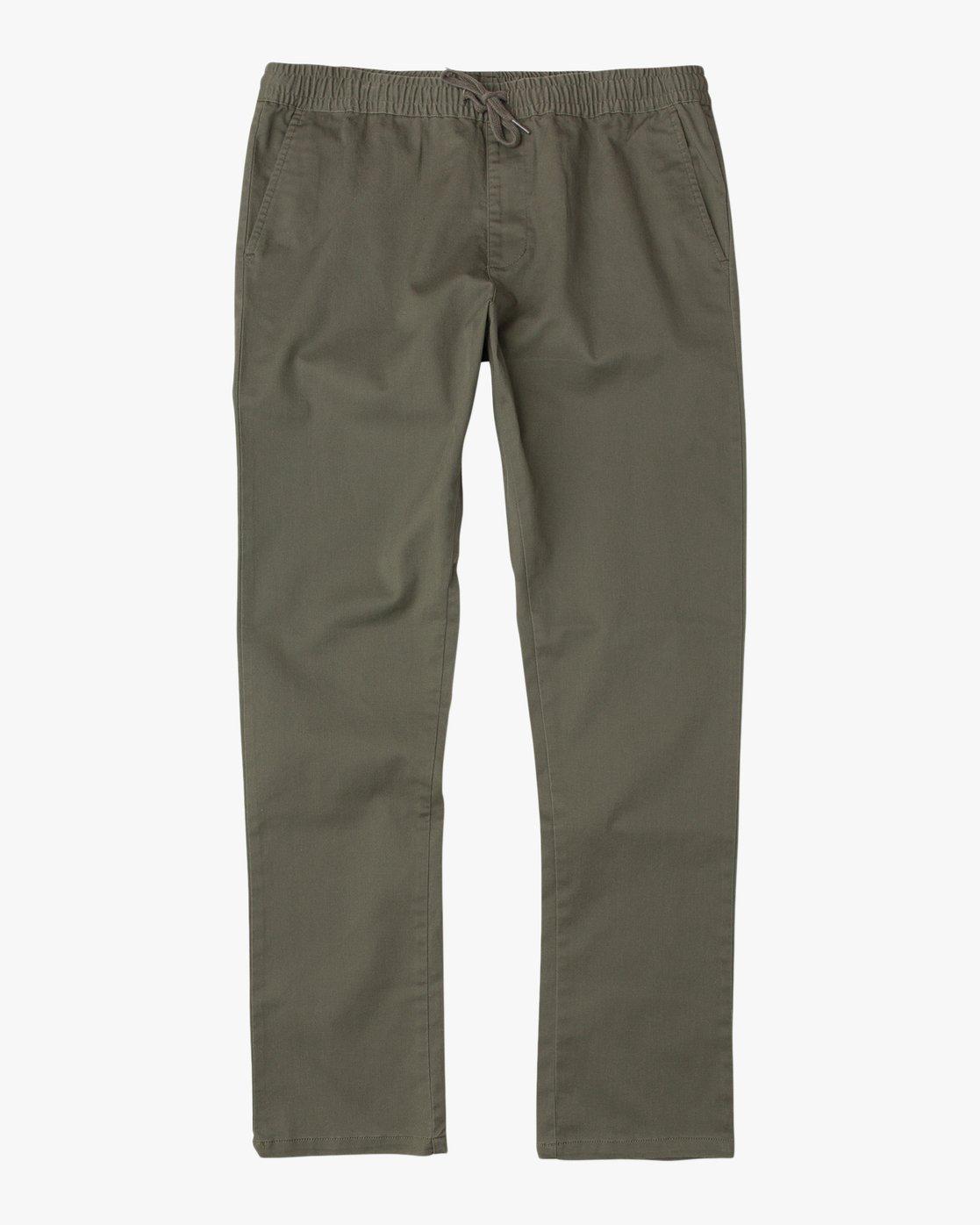 6 Weekend Elastic Pant Green M302TRWE RVCA