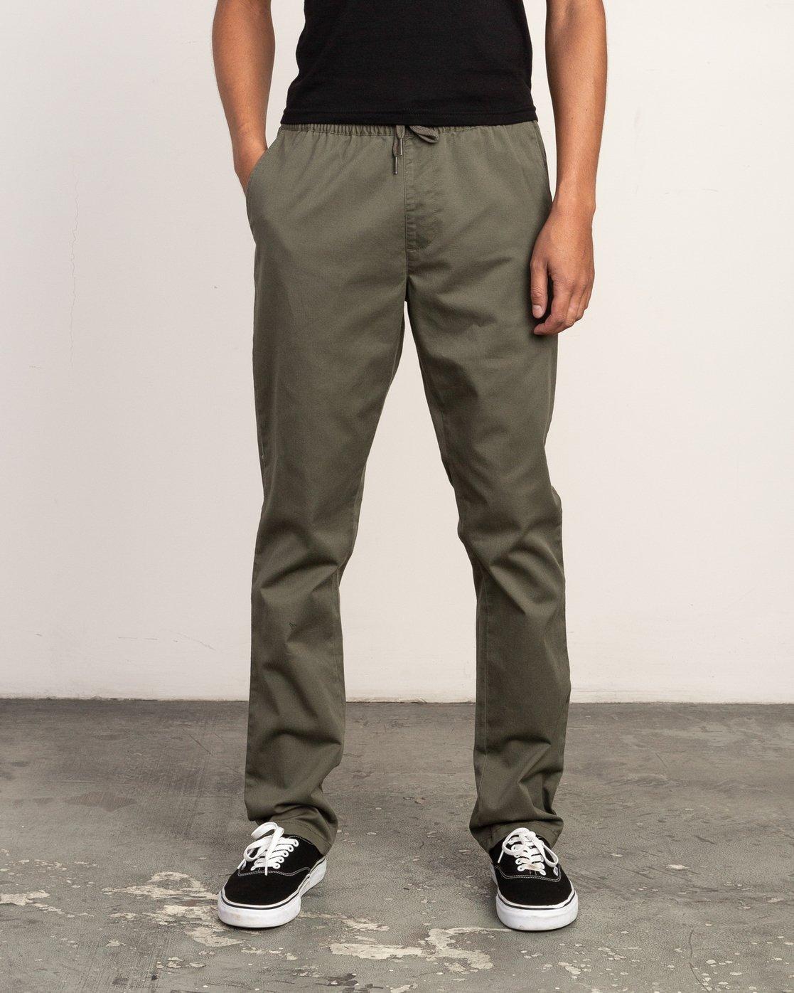 0 Weekend Elastic Pant Green M302TRWE RVCA