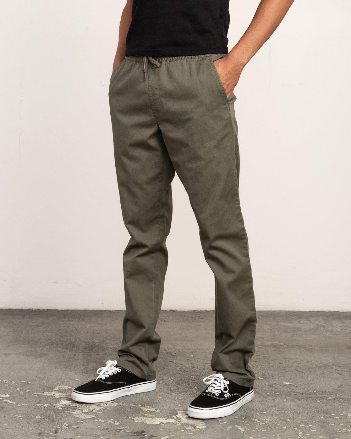 1 Weekend Elastic Pant Green M302TRWE RVCA