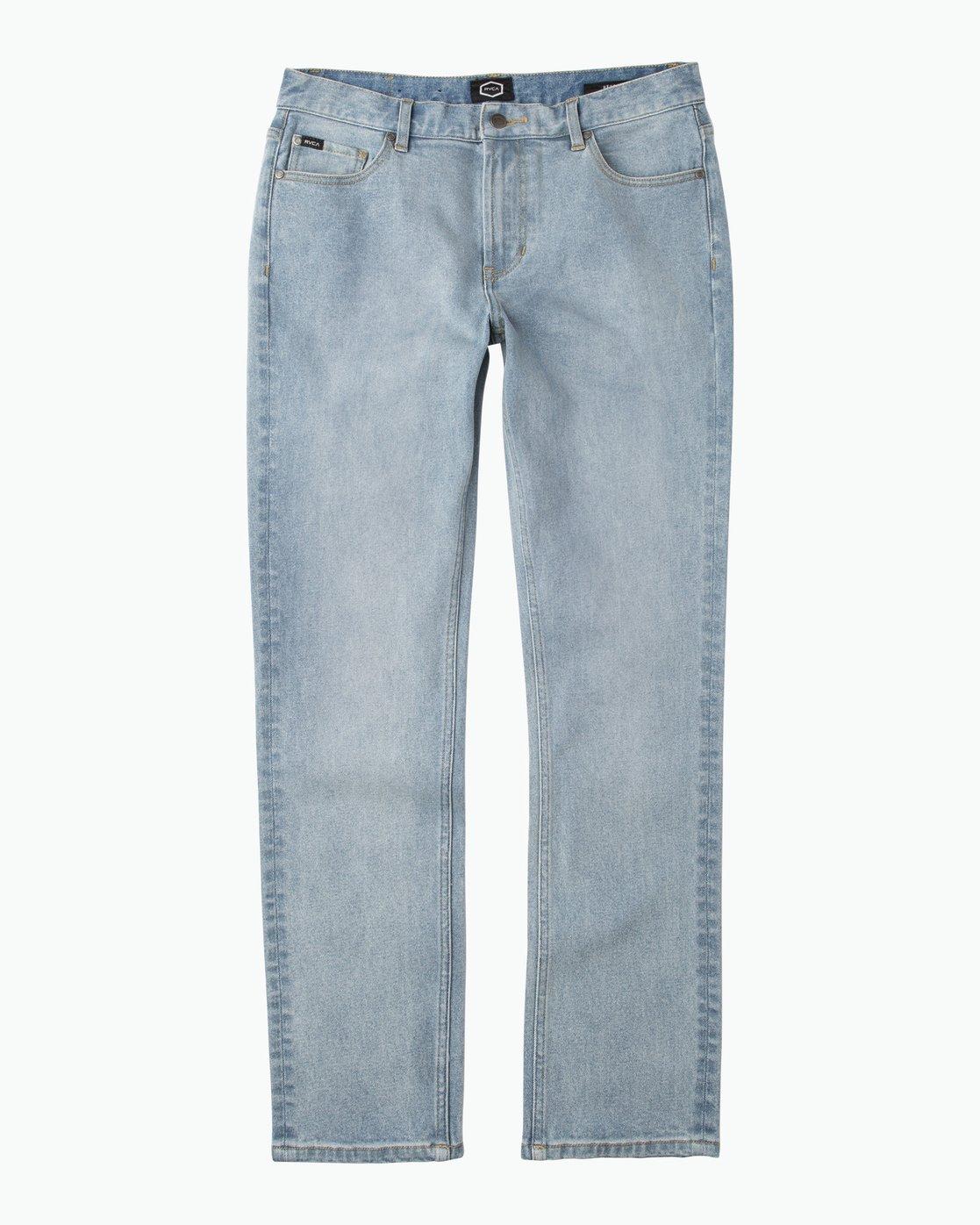 6 Hexed Slim Fit Denim Jeans Blue M306QRHD RVCA