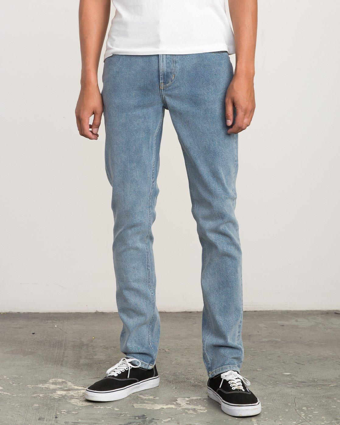 0 Hexed Slim Fit Denim Jeans Blue M306QRHD RVCA