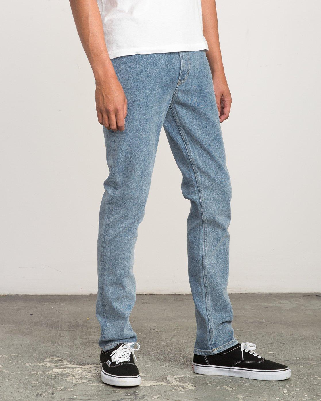 5 Hexed Slim Fit Denim Jeans Blue M306QRHD RVCA
