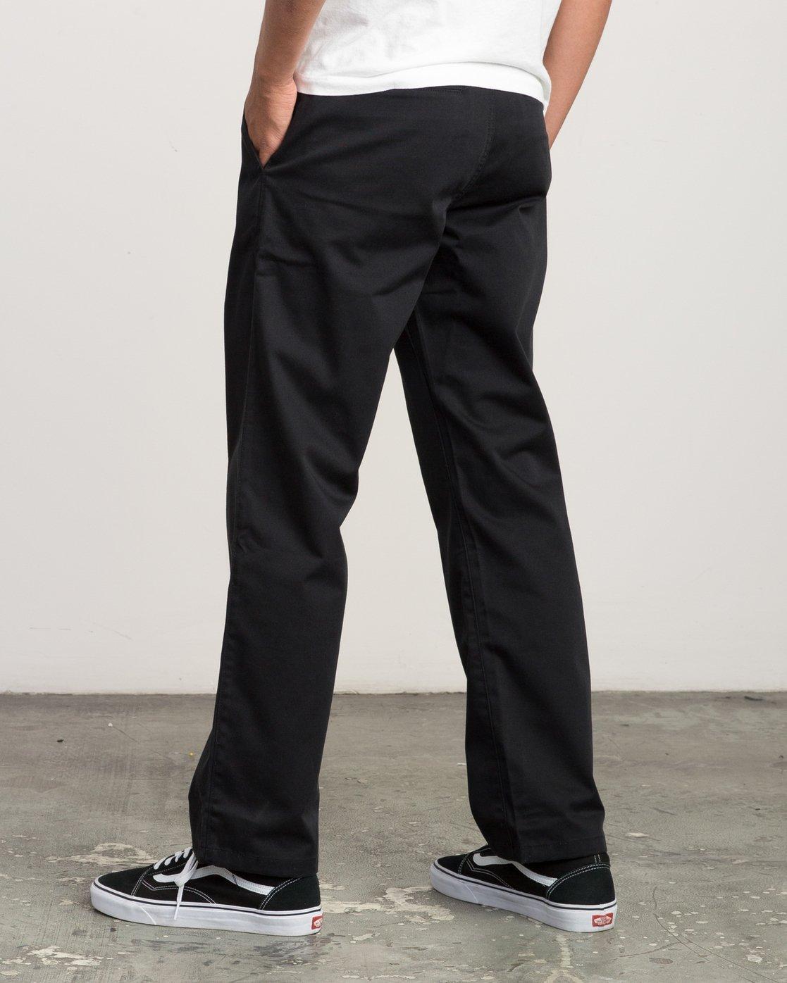 2 Big RVCA Chino Pant Black M308QRBR RVCA