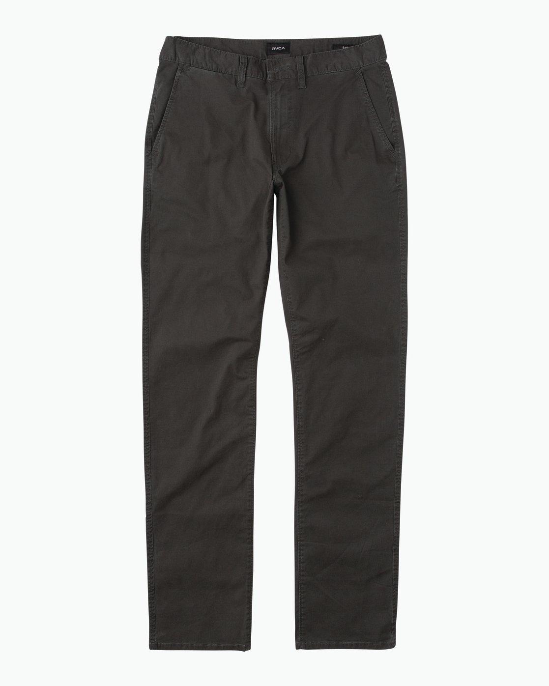 6 Daggers Slim-Straight Chino Pant Black M309QRDC RVCA