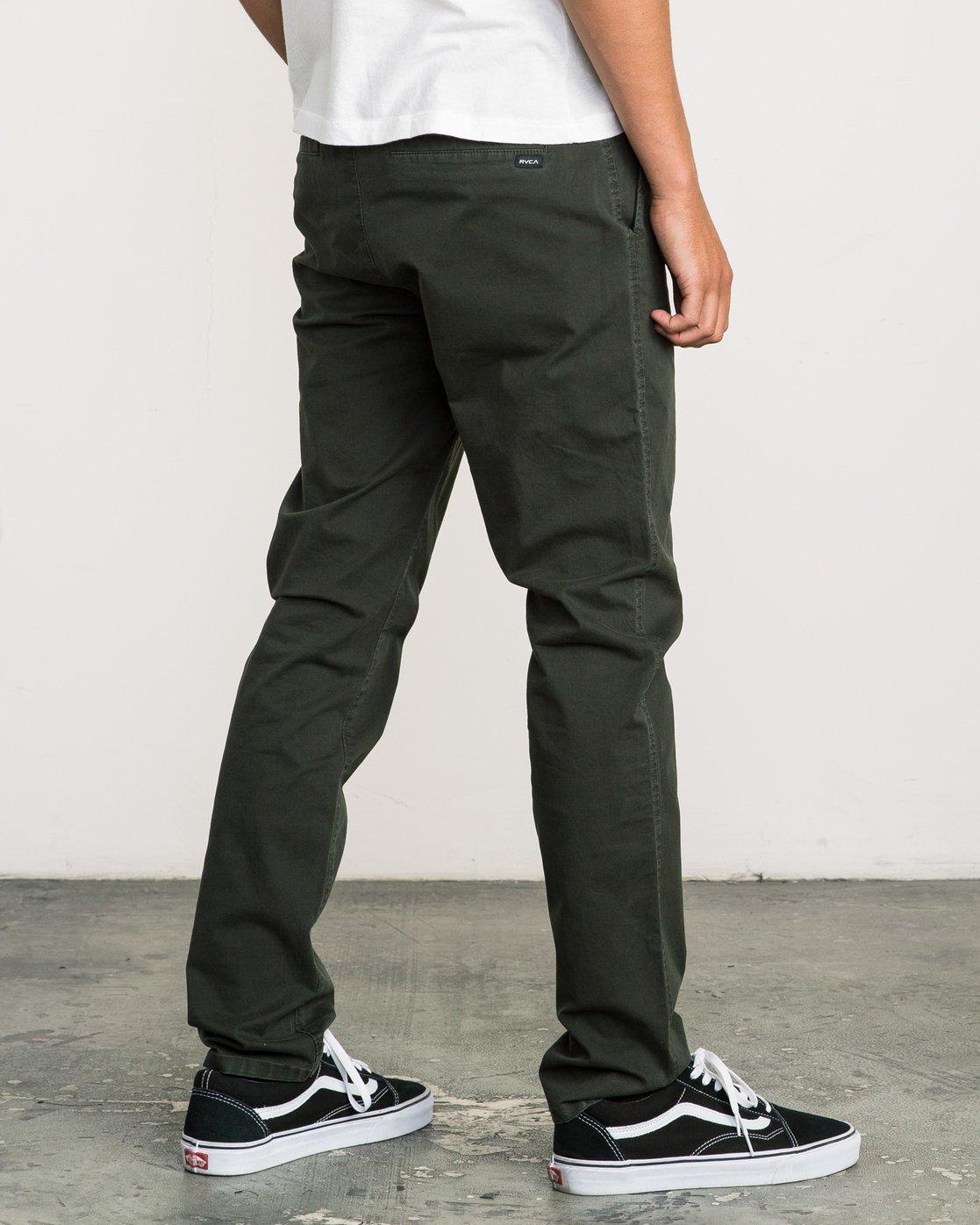 3 Daggers Slim-Straight Chino Pant Camo M309QRDC RVCA