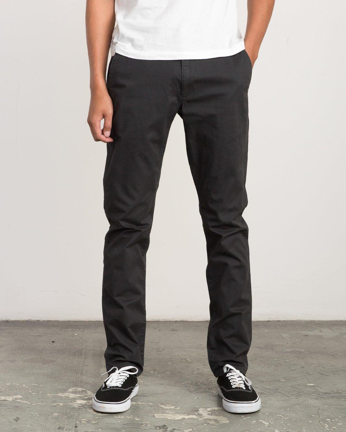 0 Daggers Slim-Straight Chino Pant Black M309QRDC RVCA