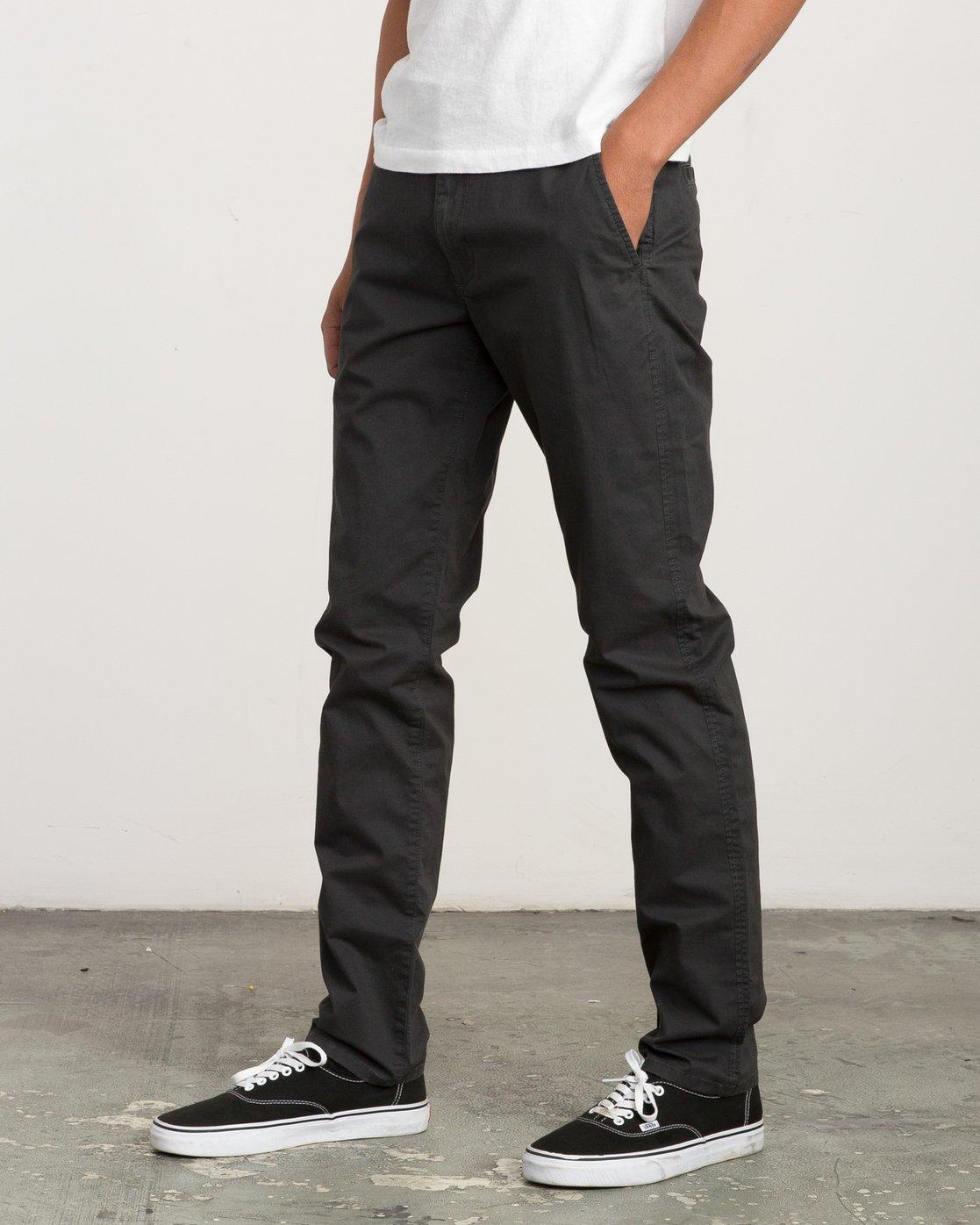 1 Daggers Slim-Straight Chino Pant Black M309QRDC RVCA