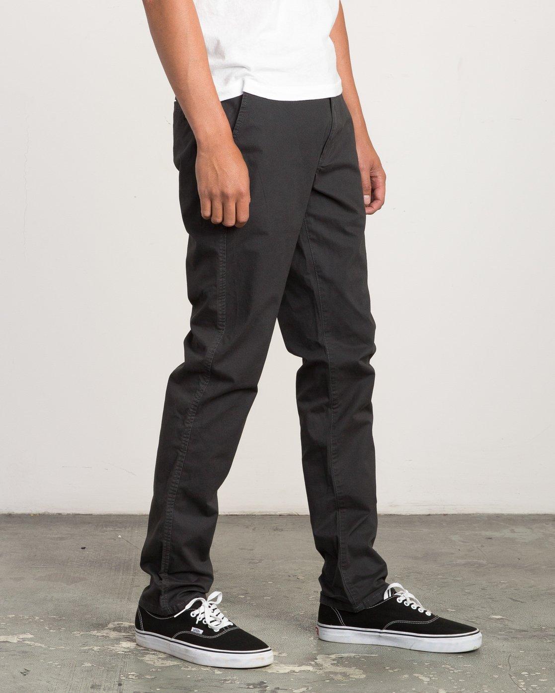 5 Daggers Slim-Straight Chino Pant Black M309QRDC RVCA