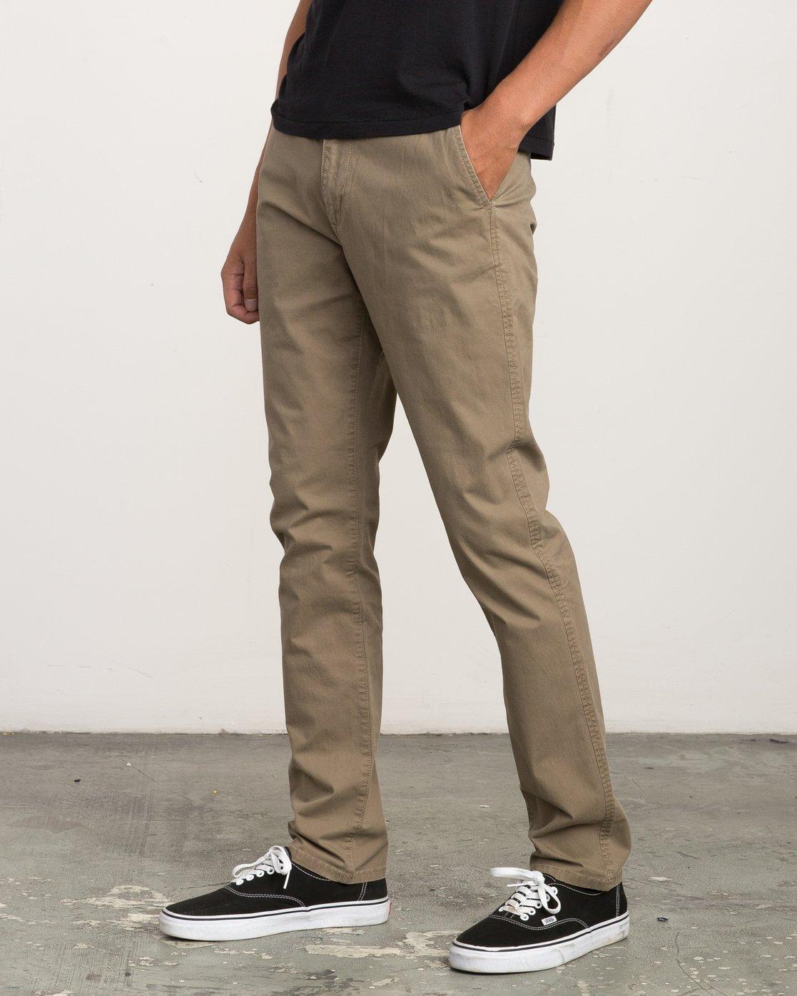 1 Daggers Slim-Straight Chino Pant Beige M309QRDC RVCA