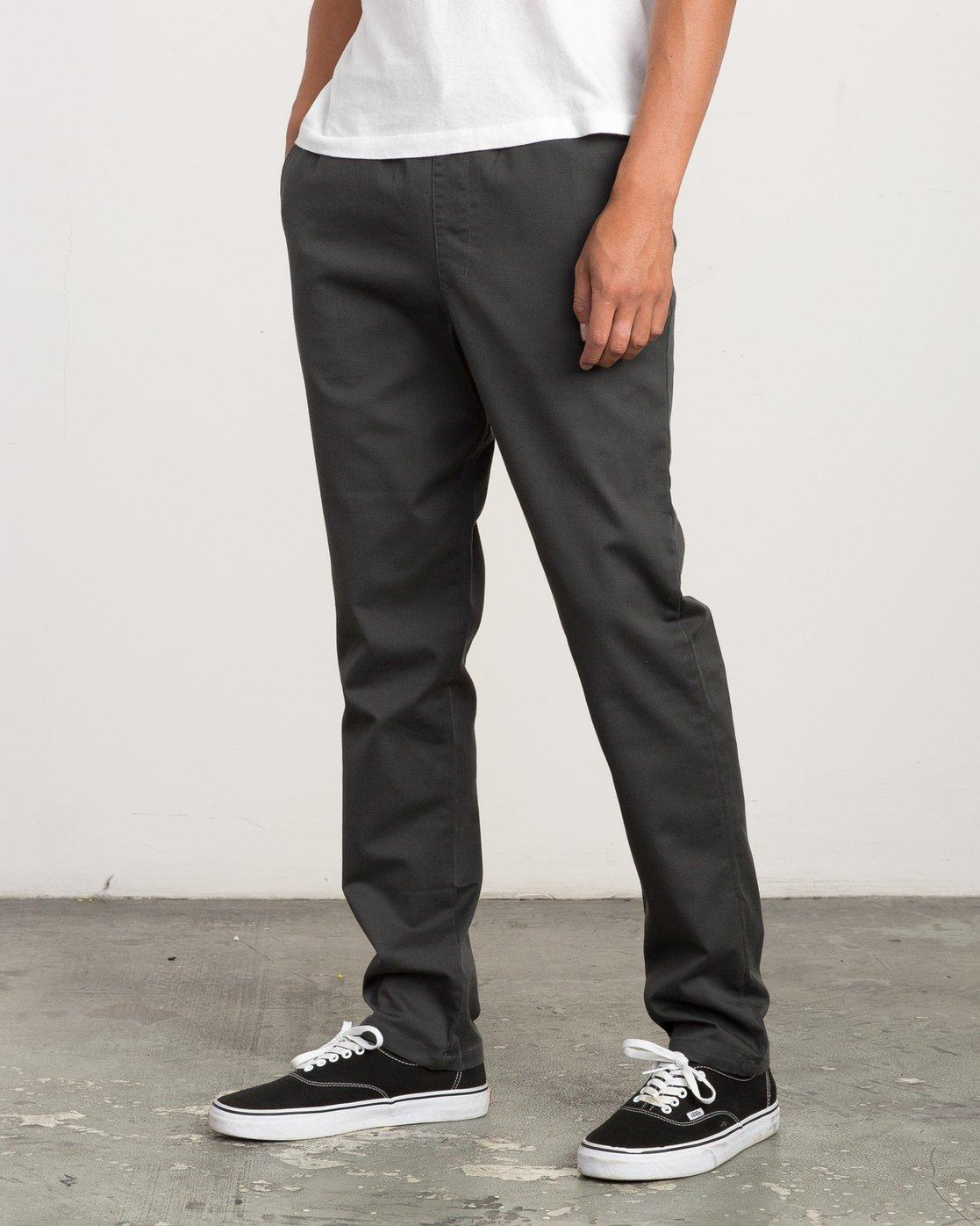 1 A.T. Dayshift Elastic Pant II Black M310QRDS RVCA