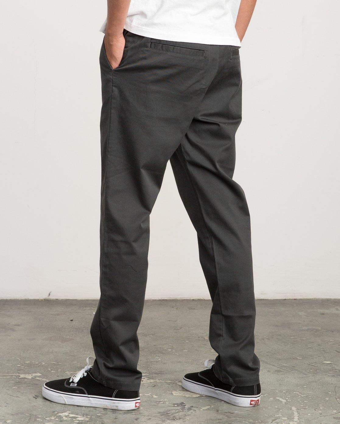2 A.T. Dayshift Elastic Pant II Black M310QRDS RVCA