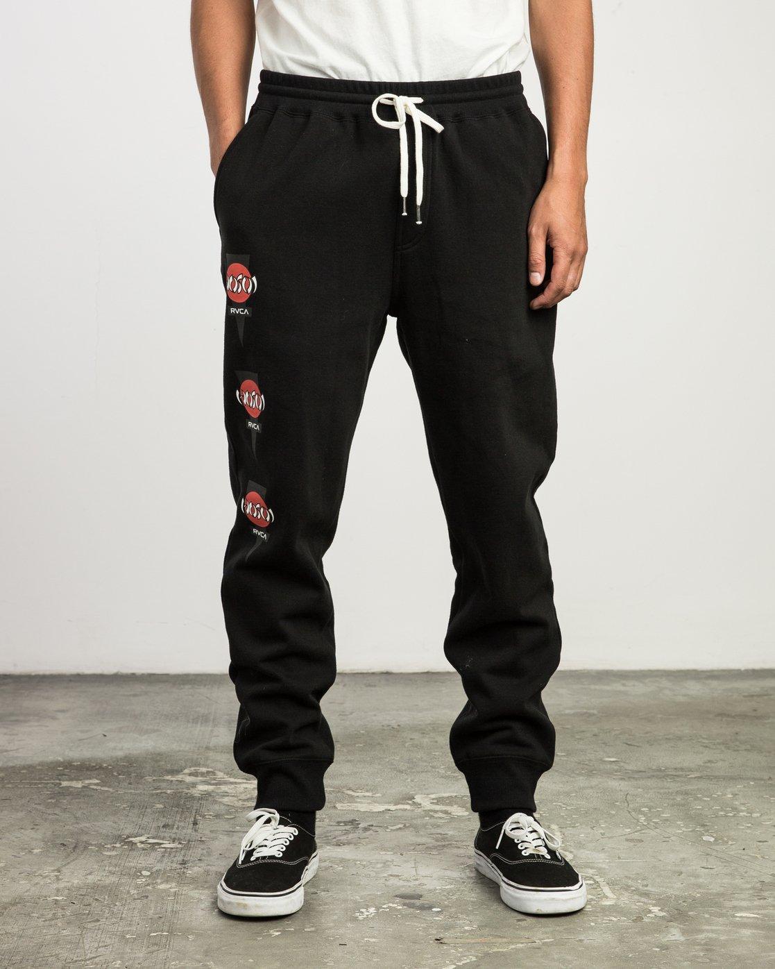 0 Christian Hosoi Sweat Pant Black M350SRHS RVCA