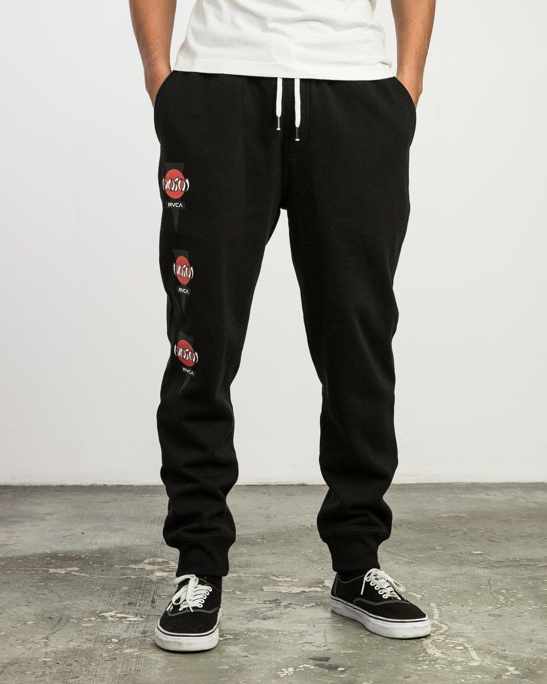 1 Christian Hosoi Sweat Pant Black M350SRHS RVCA