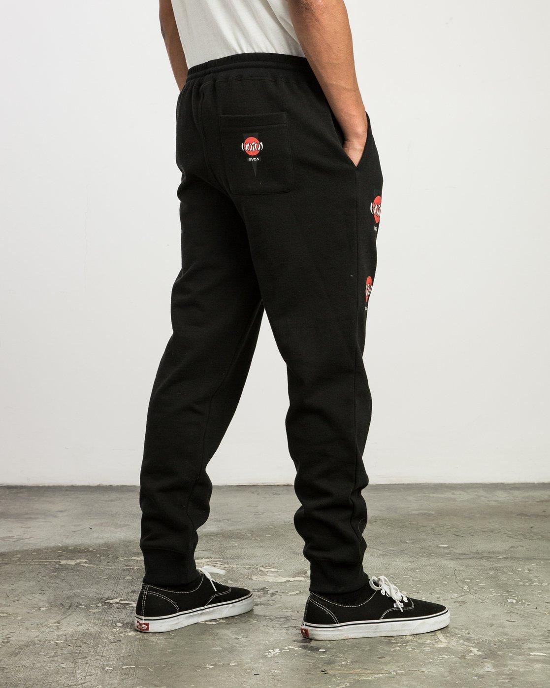 5 Christian Hosoi Sweat Pant Black M350SRHS RVCA