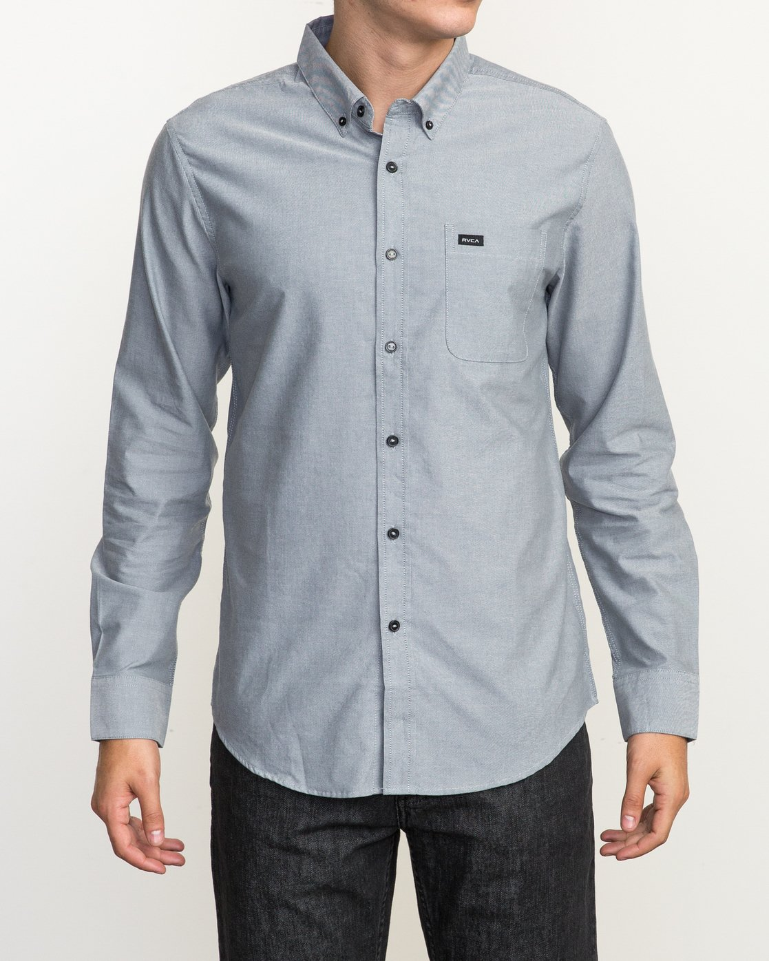 1 That'll Do Oxford Long Sleeve Shirt Multicolor M3515TDL RVCA