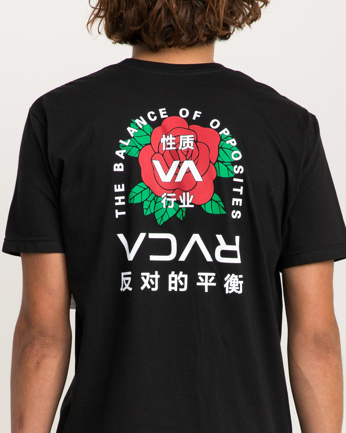 5 Roze T-Shirt Black M401PRRT RVCA