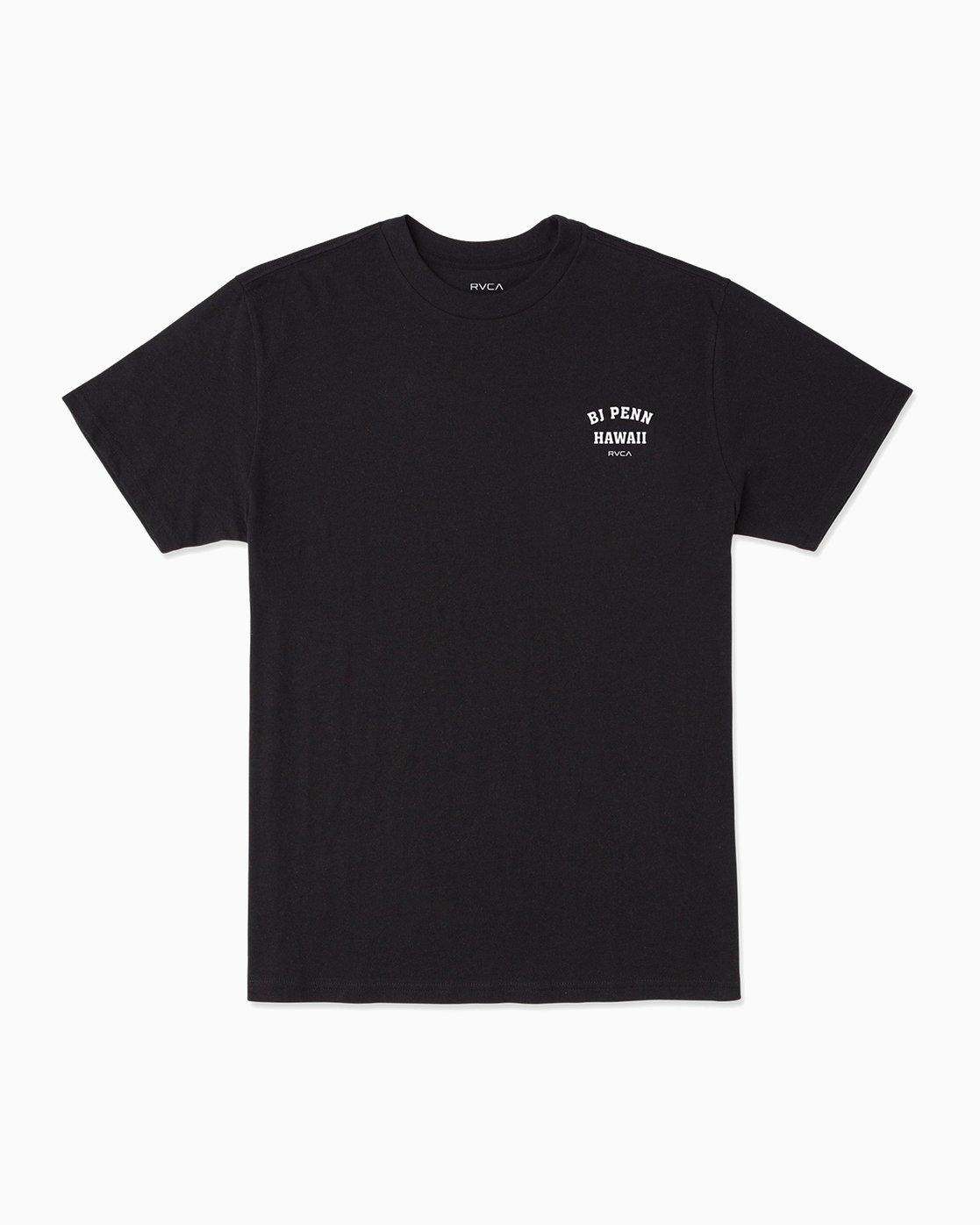 1 BJ Penn Square Up T-Shirt Black M401SRSQ RVCA
