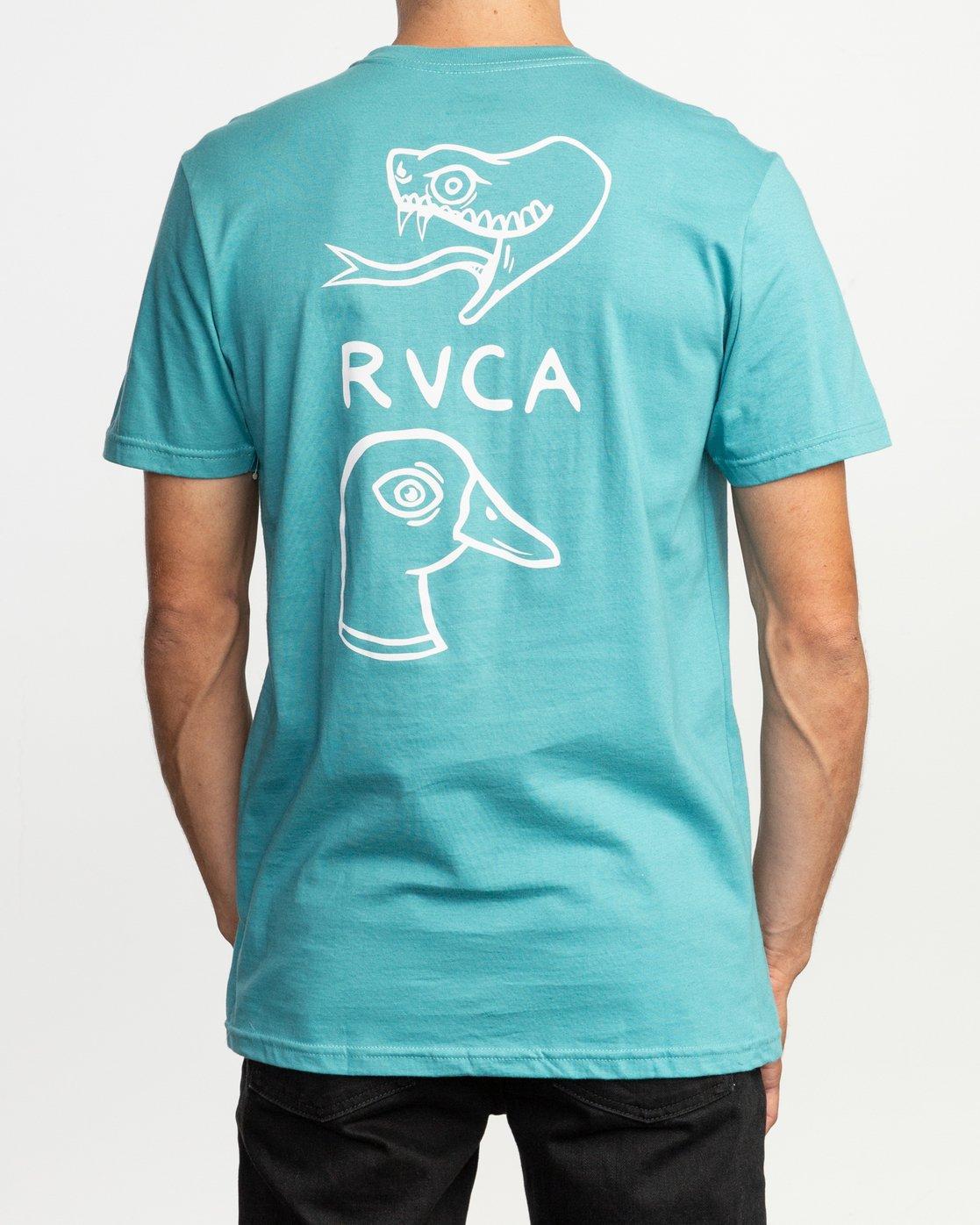 4 Pommier Eternal Struggle T-Shirt Blue M401TRET RVCA