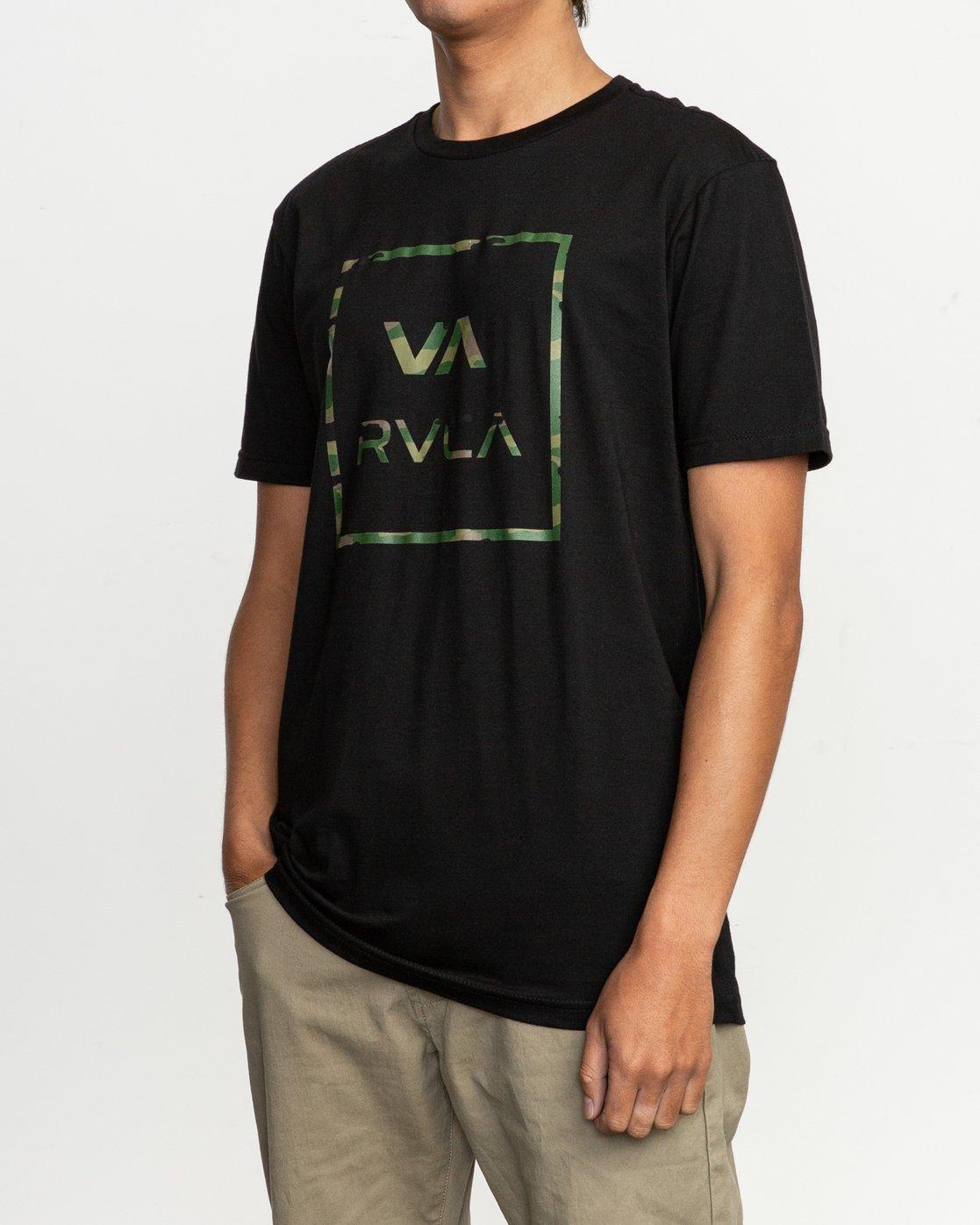 2 Fill All The Way T-Shirt Black M401TRFI RVCA