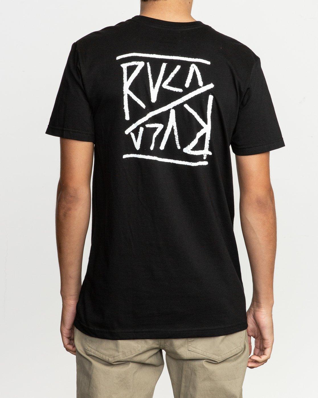 4 Flipper T-Shirt Black M401TRFL RVCA