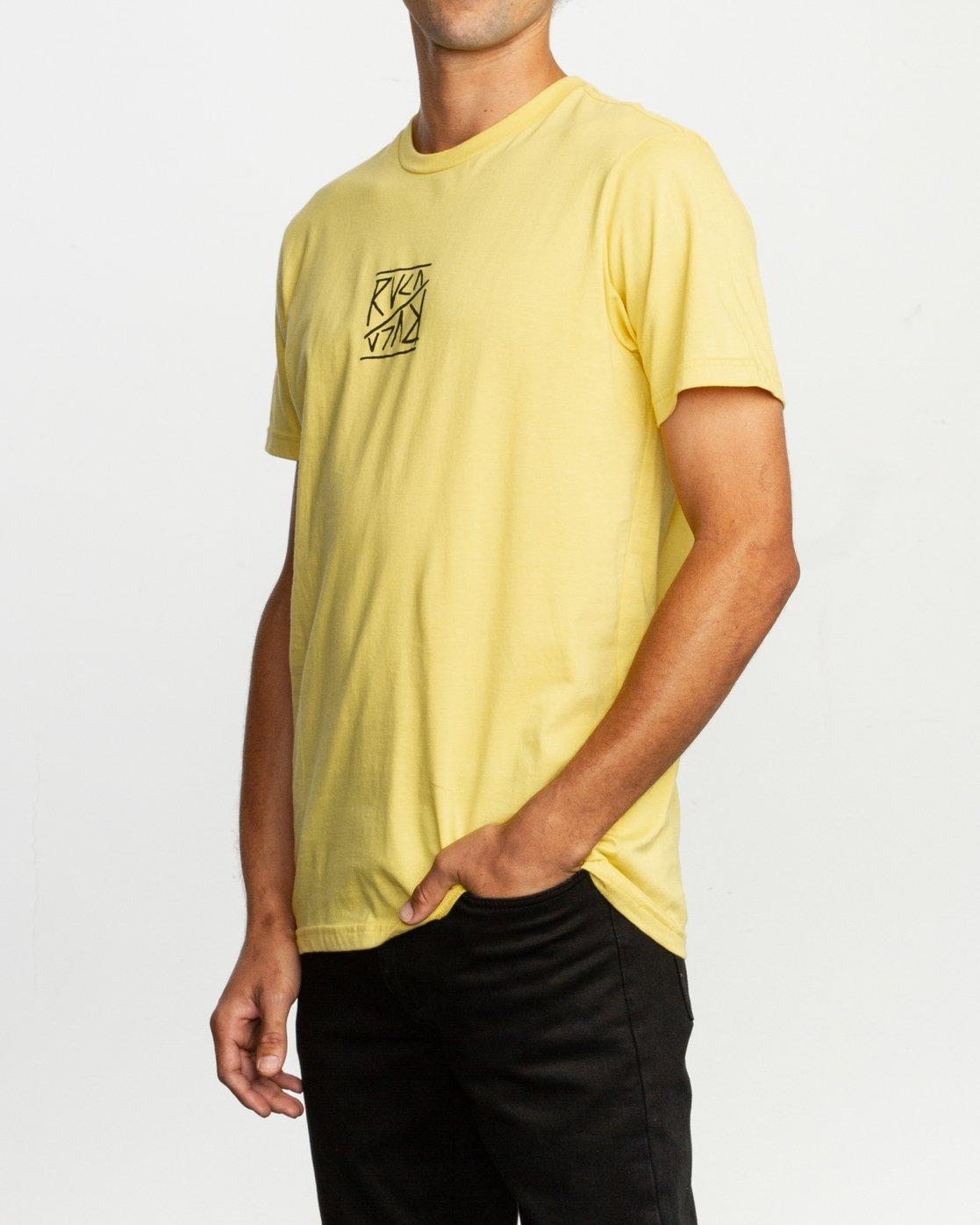 3 Flipper T-Shirt Yellow M401TRFL RVCA