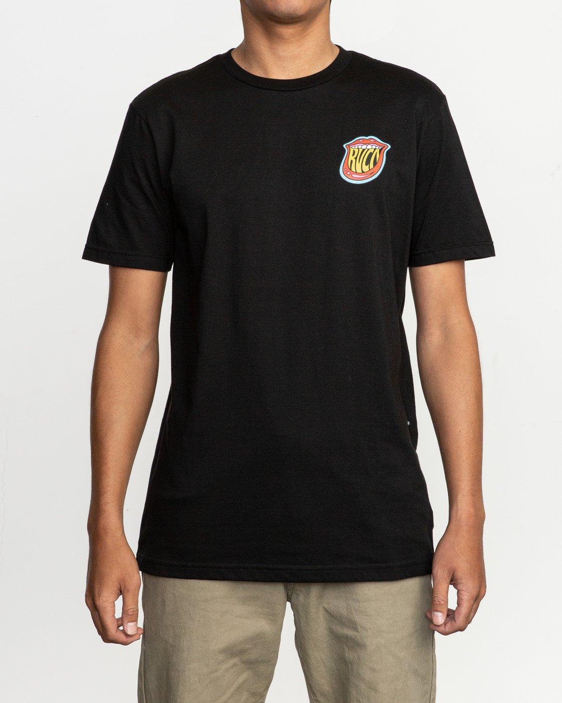 2 Dmote Jetty Lips T-Shirt Black M401TRJE RVCA
