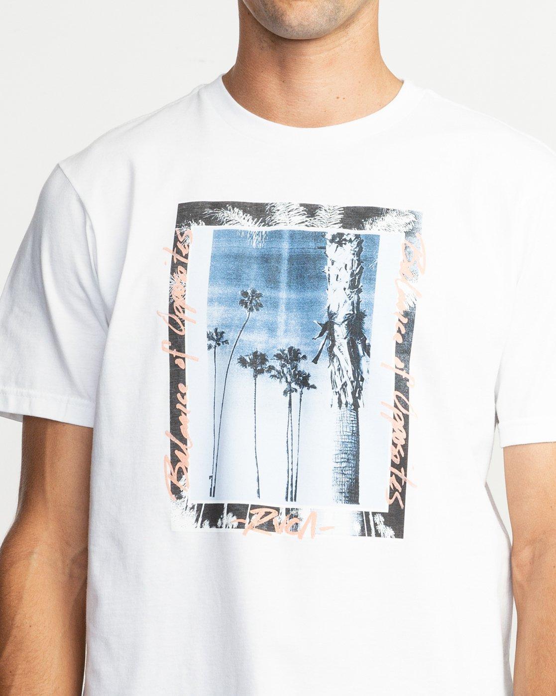 4 Last Paradise T-Shirt White M401TRLA RVCA