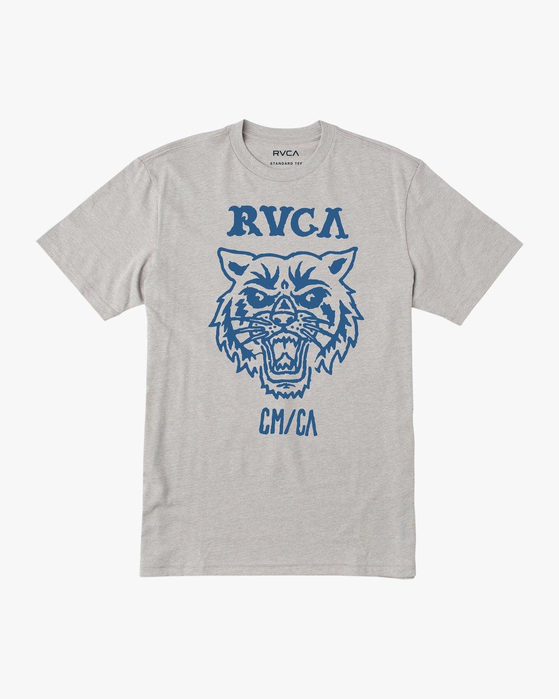 0 Dmote Mascot T-Shirt Grey M401TRMA RVCA