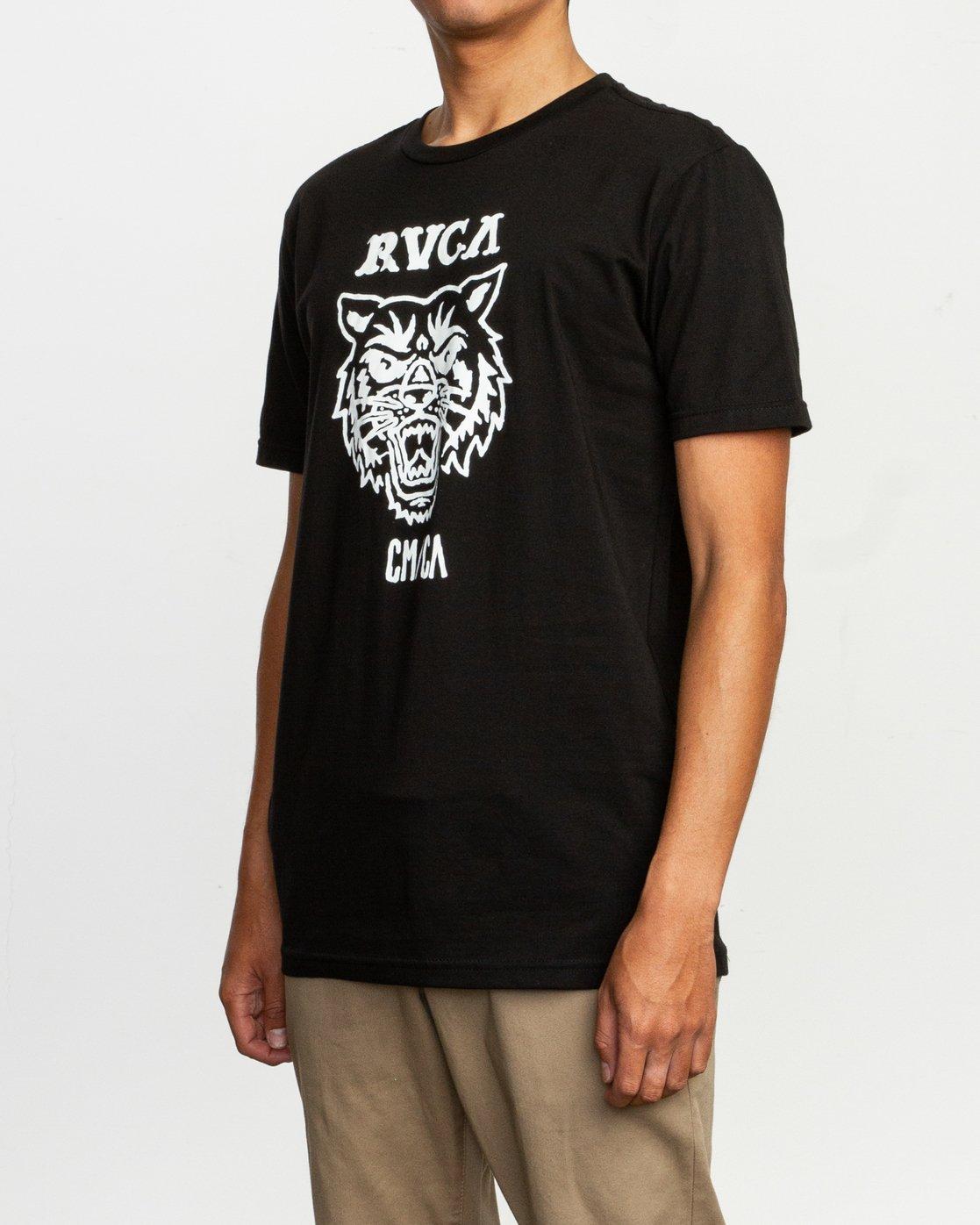 2 Dmote Mascot T-Shirt Black M401TRMA RVCA