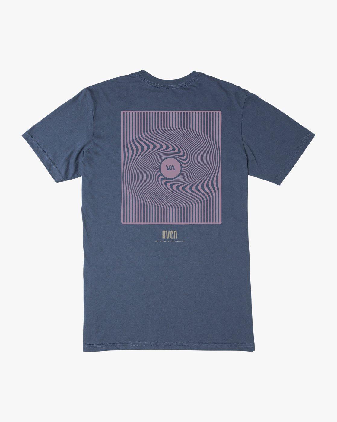 0 Mind Wrap T-Shirt Blue M401TRMI RVCA