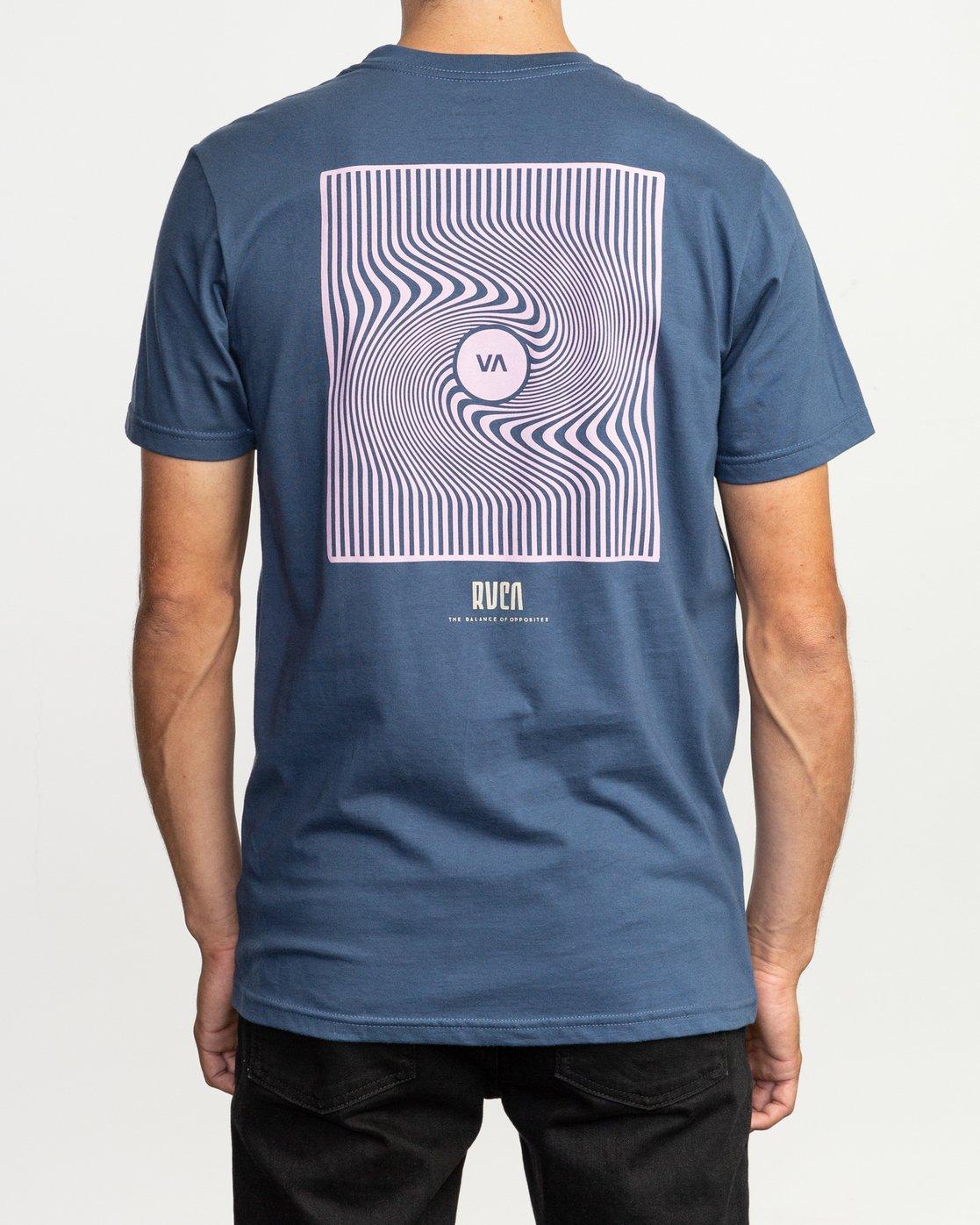 4 Mind Wrap T-Shirt Blue M401TRMI RVCA