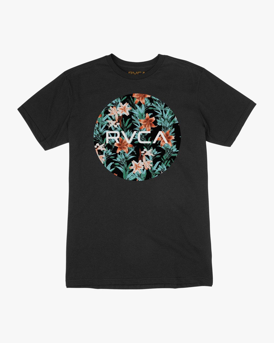 0 Motors Fill T-Shirt Black M401TRMO RVCA