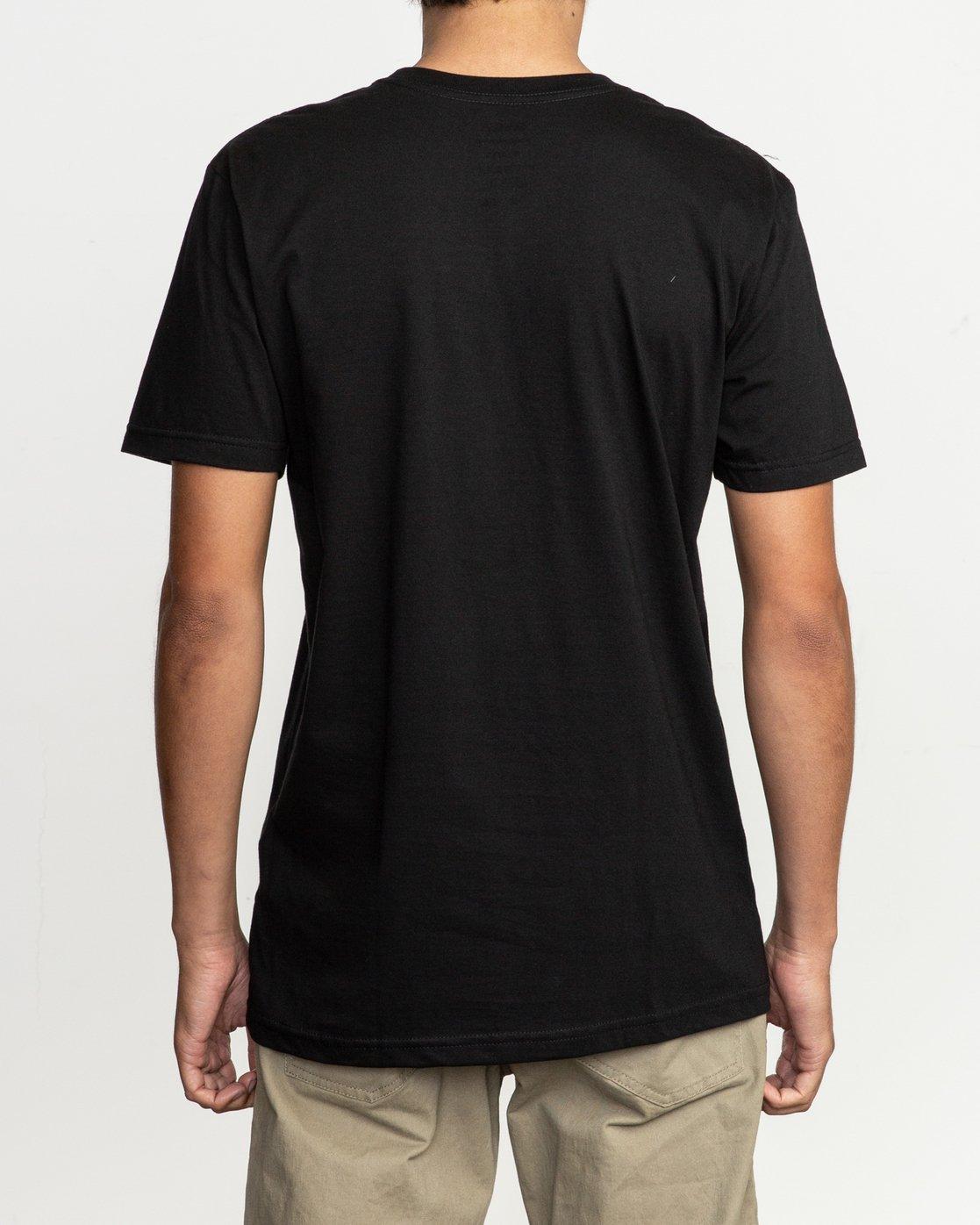 3 Motors Fill T-Shirt Black M401TRMO RVCA