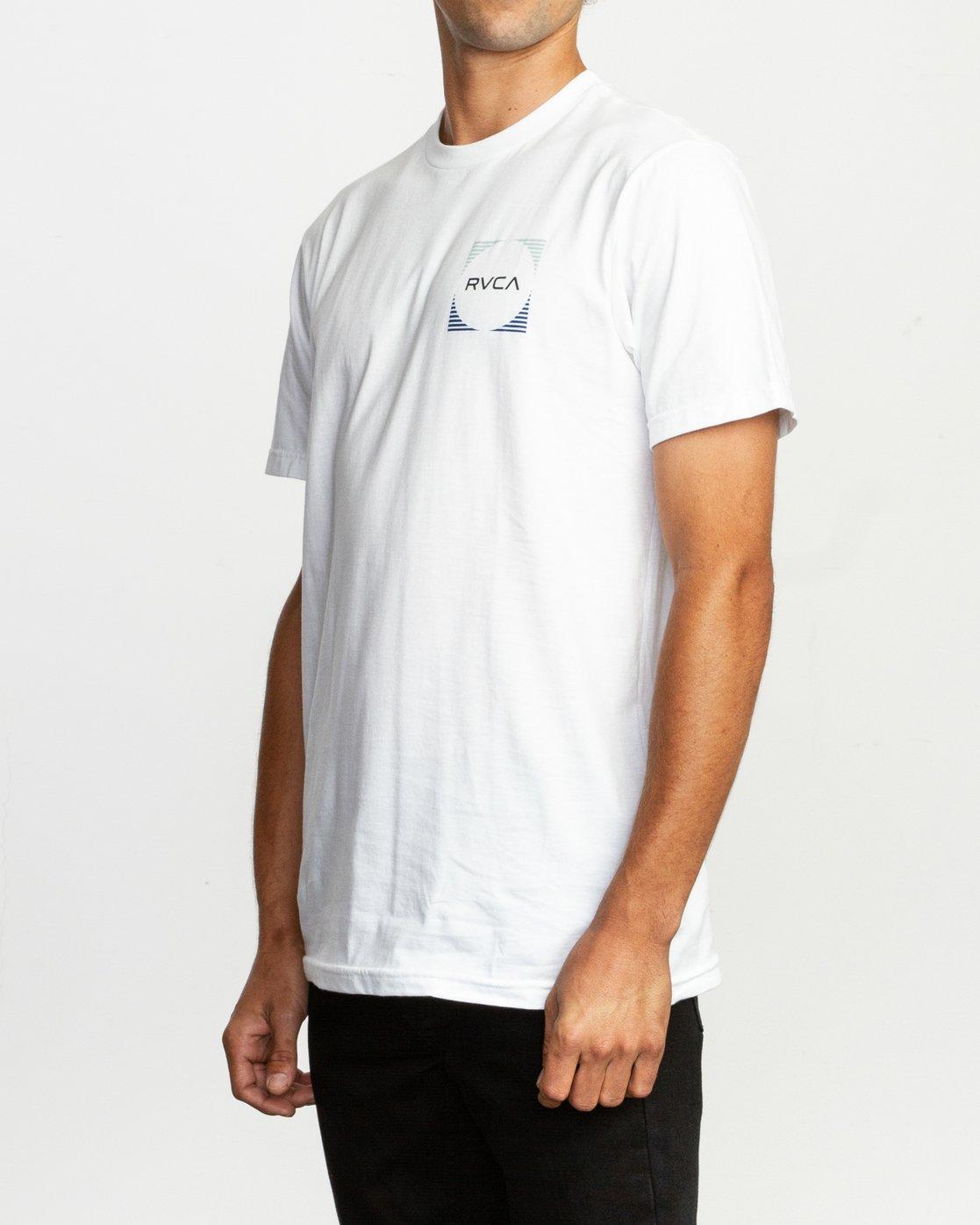 3 Motorstripe T-Shirt White M401TRMS RVCA