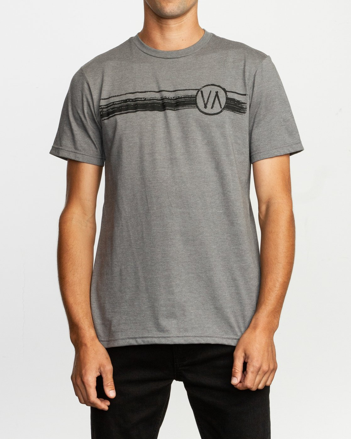 1 Ben Horton Off Track T-Shirt Grey M401TROF RVCA