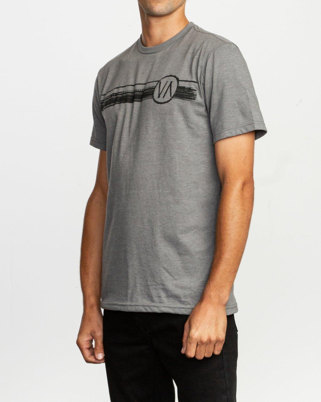 2 Ben Horton Off Track T-Shirt Grey M401TROF RVCA