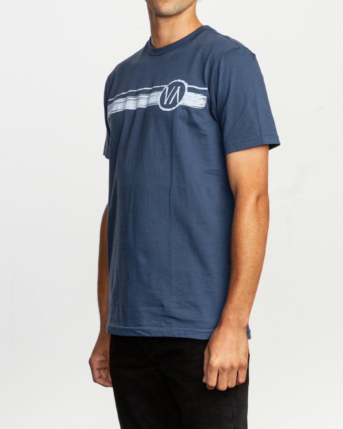 2 Ben Horton Off Track T-Shirt Blue M401TROF RVCA