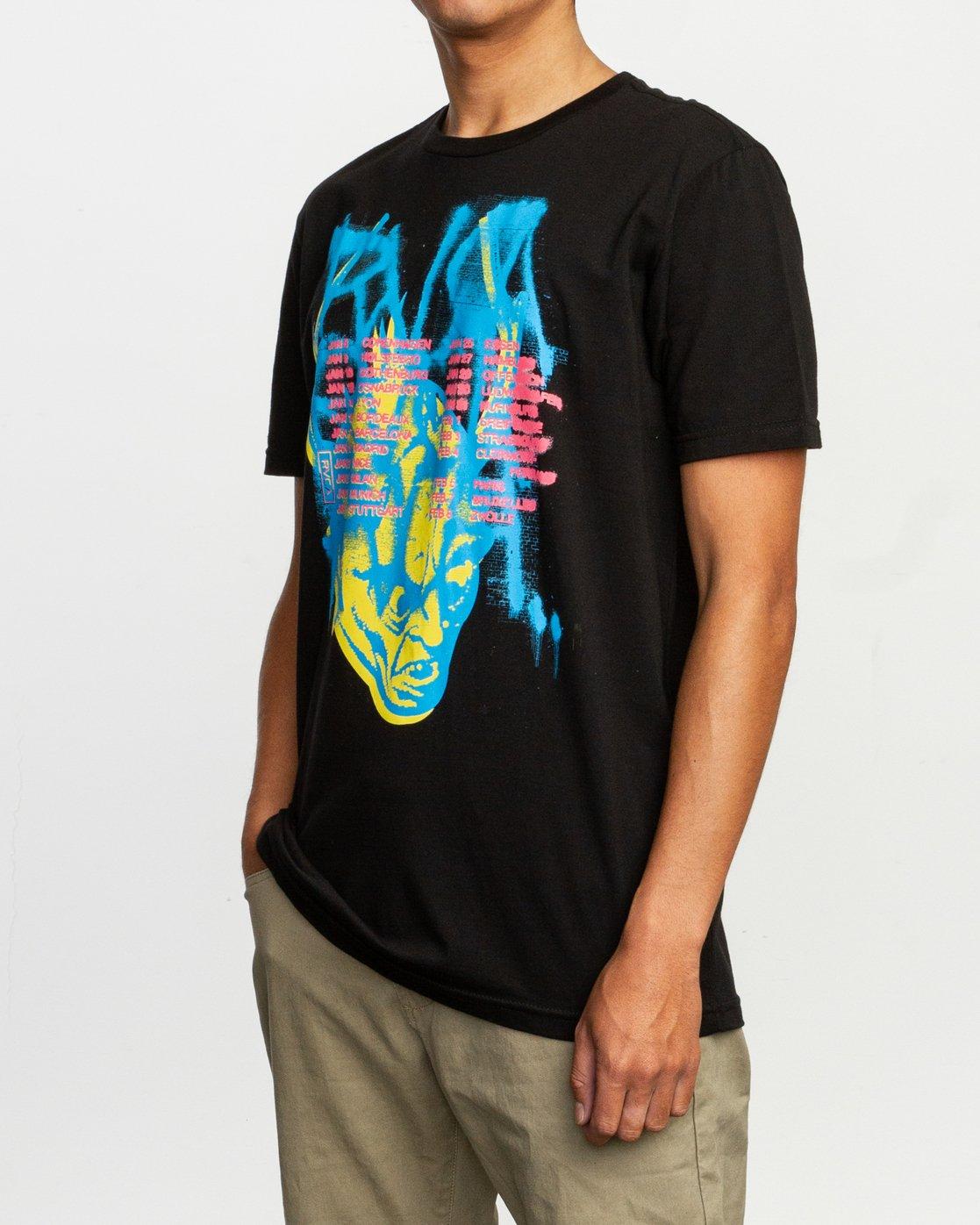 2 Dmote Strange Tour T-Shirt Black M401TRST RVCA