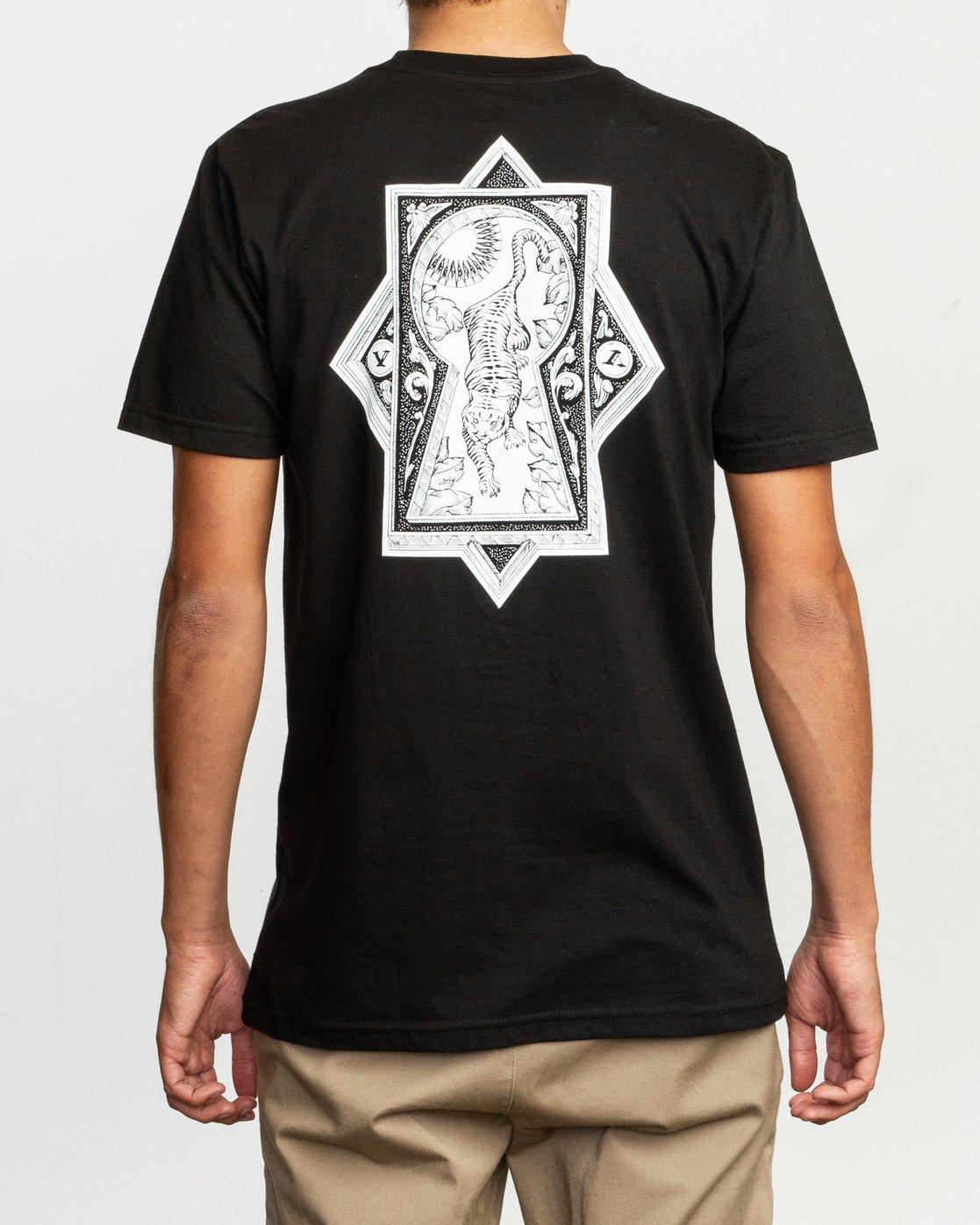 4 JeanJean Tigre T-Shirt Black M401TRTI RVCA