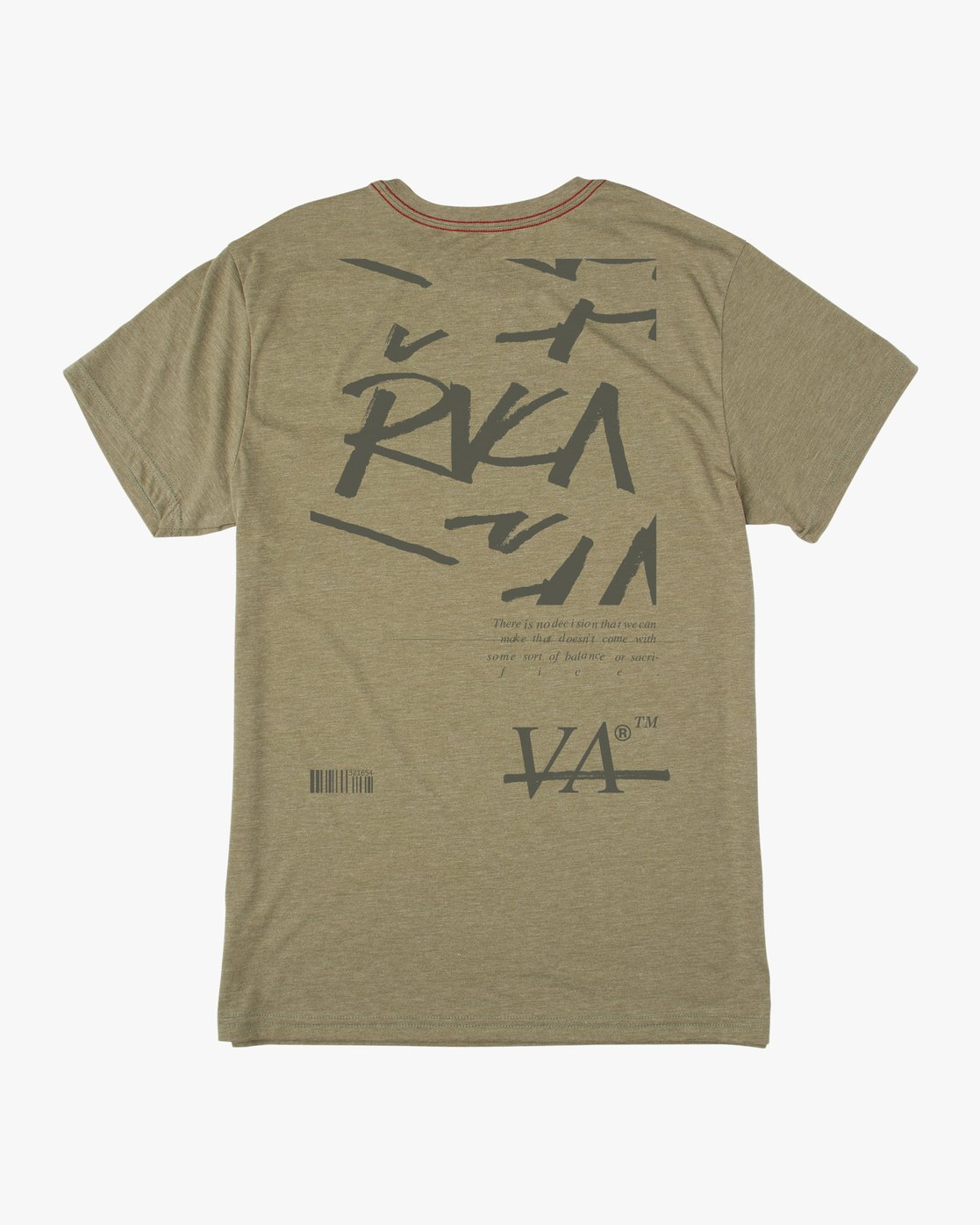 0 Displacement T-Shirt Brown M402NRDI RVCA