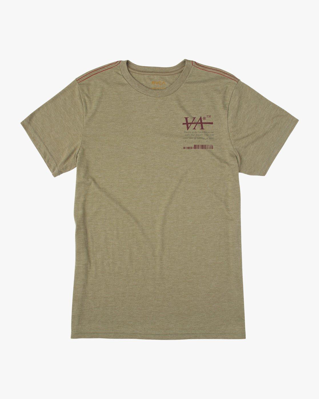 1 Displacement T-Shirt Brown M402NRDI RVCA