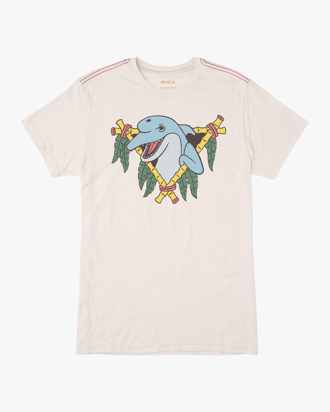 0 Dolphin Club Luke Pelletier T-Shirt White M402NRDO RVCA