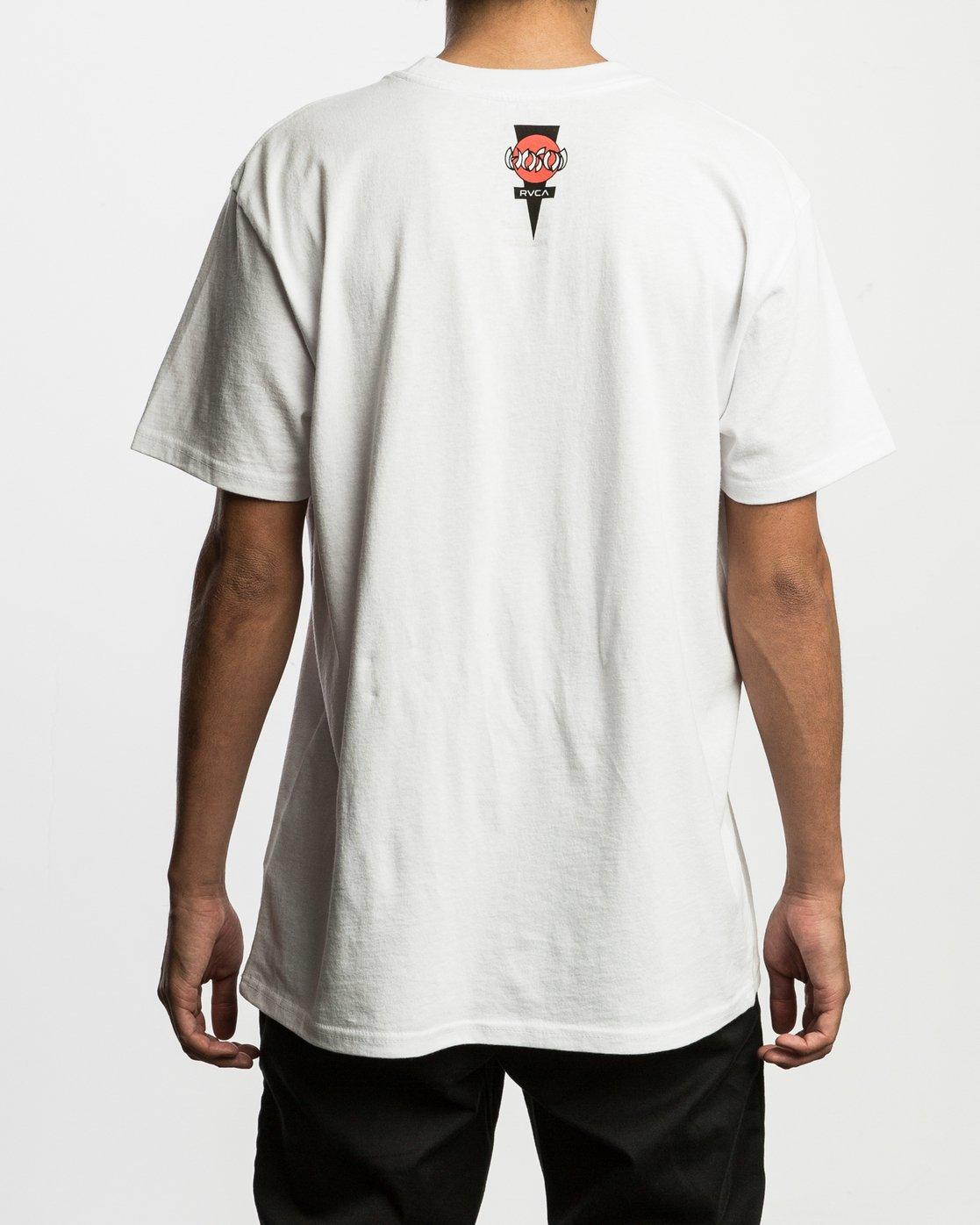 4 Christian Hosoi Oblow Layback T-Shirt White M410SRHS RVCA