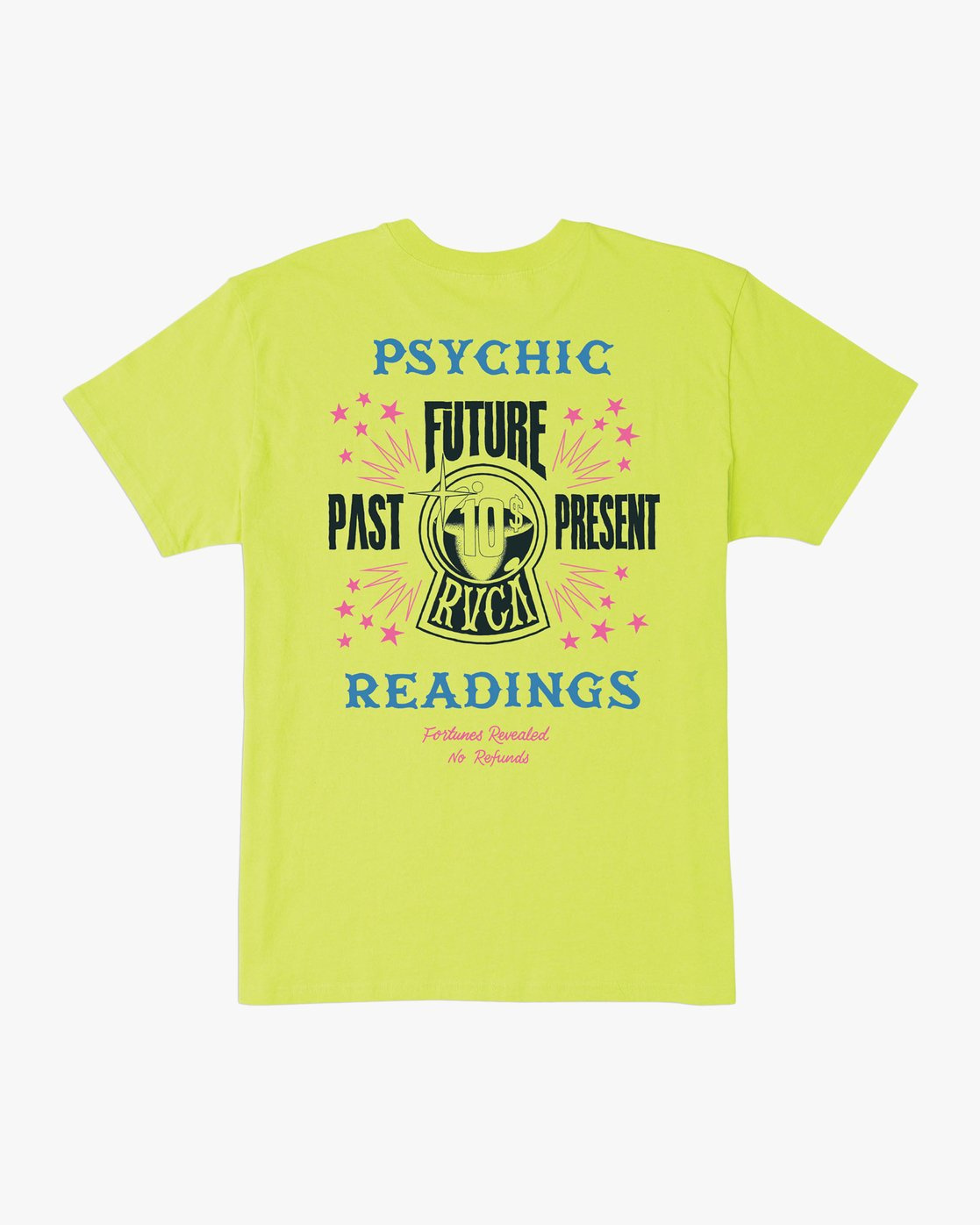 0 Dmote Psychic T-Shirt Yellow M410TRPS RVCA