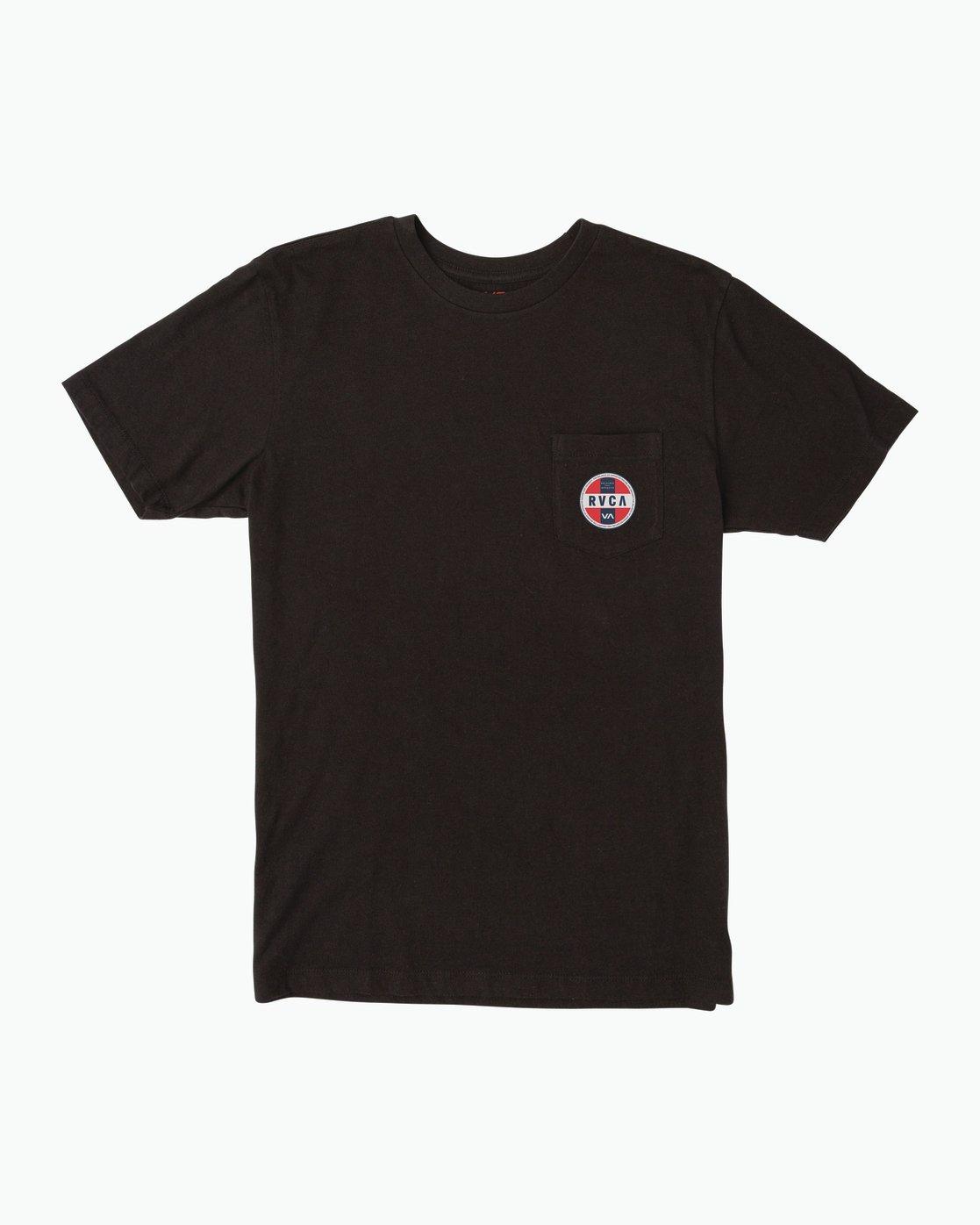 1 Indobrok Pocket T-Shirt Black M412SRIN RVCA