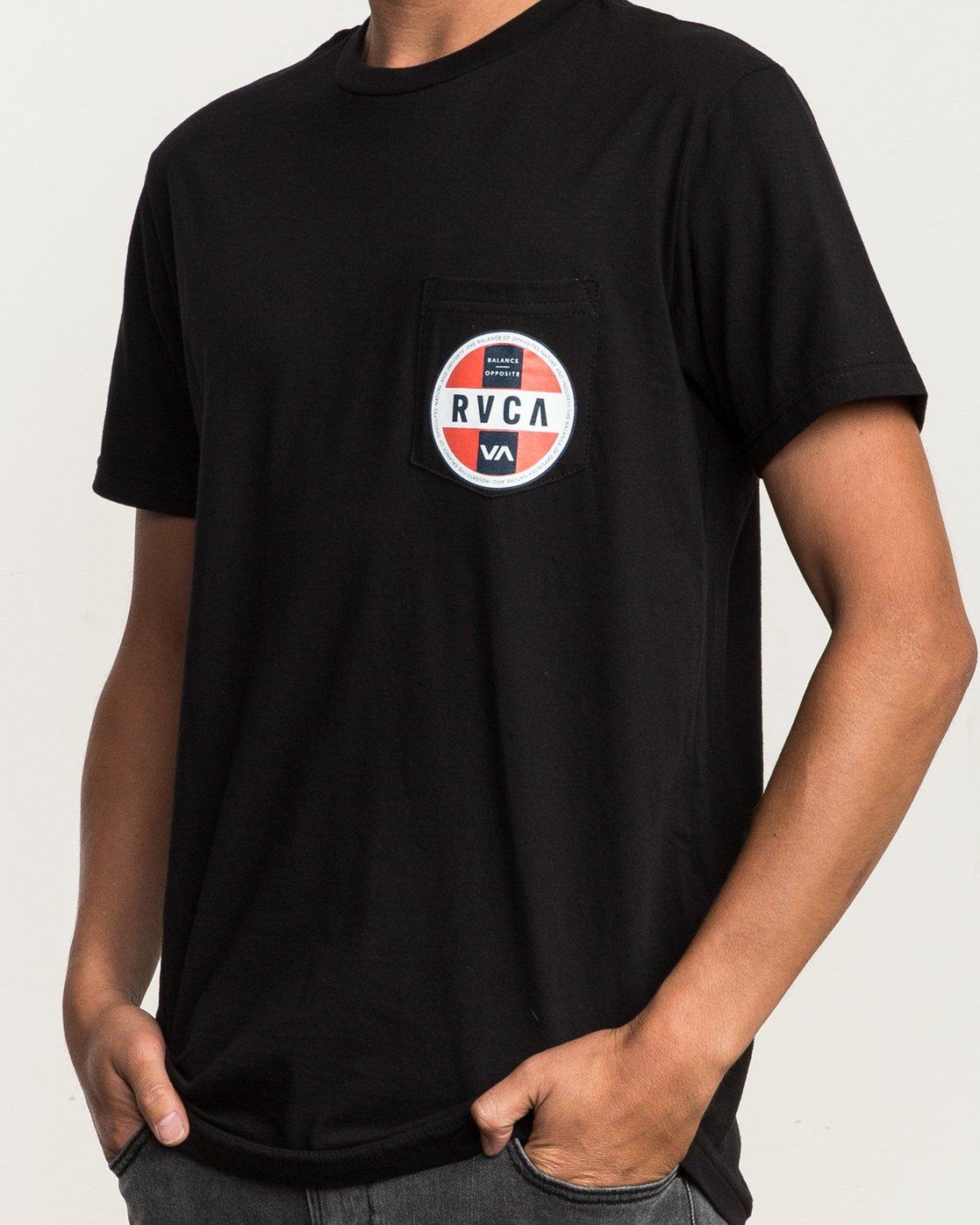 5 Indobrok Pocket T-Shirt Black M412SRIN RVCA