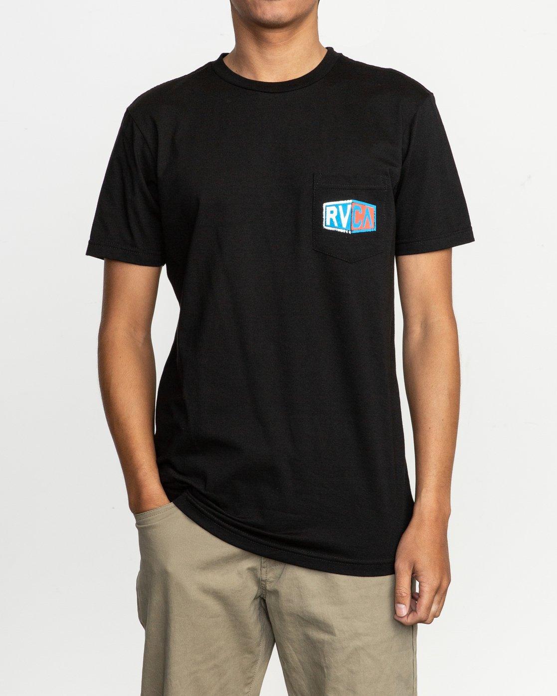 2 Carborator T-Shirt Black M412TRCA RVCA