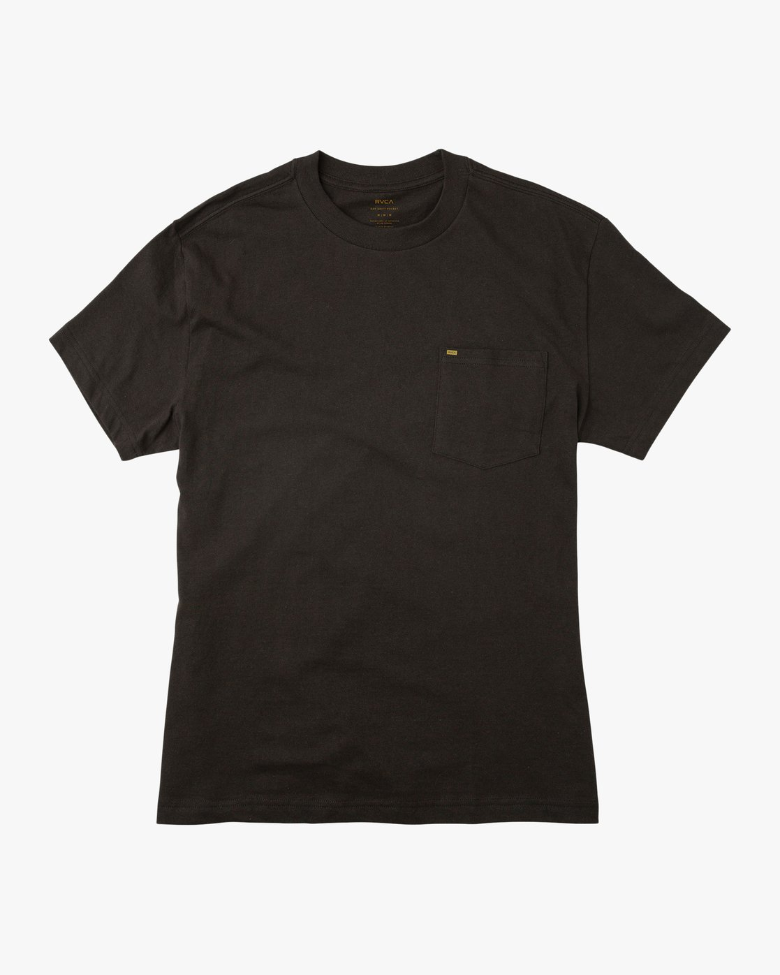 0 Day Shift Label Pocket T-Shirt Black M414SRDE RVCA