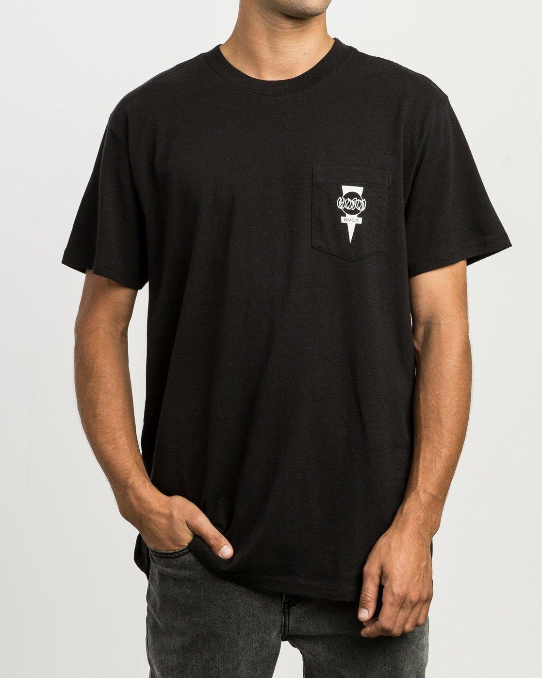 2 Christian Hosoi Dayshift Pocket T-Shirt Black M414SRHS RVCA