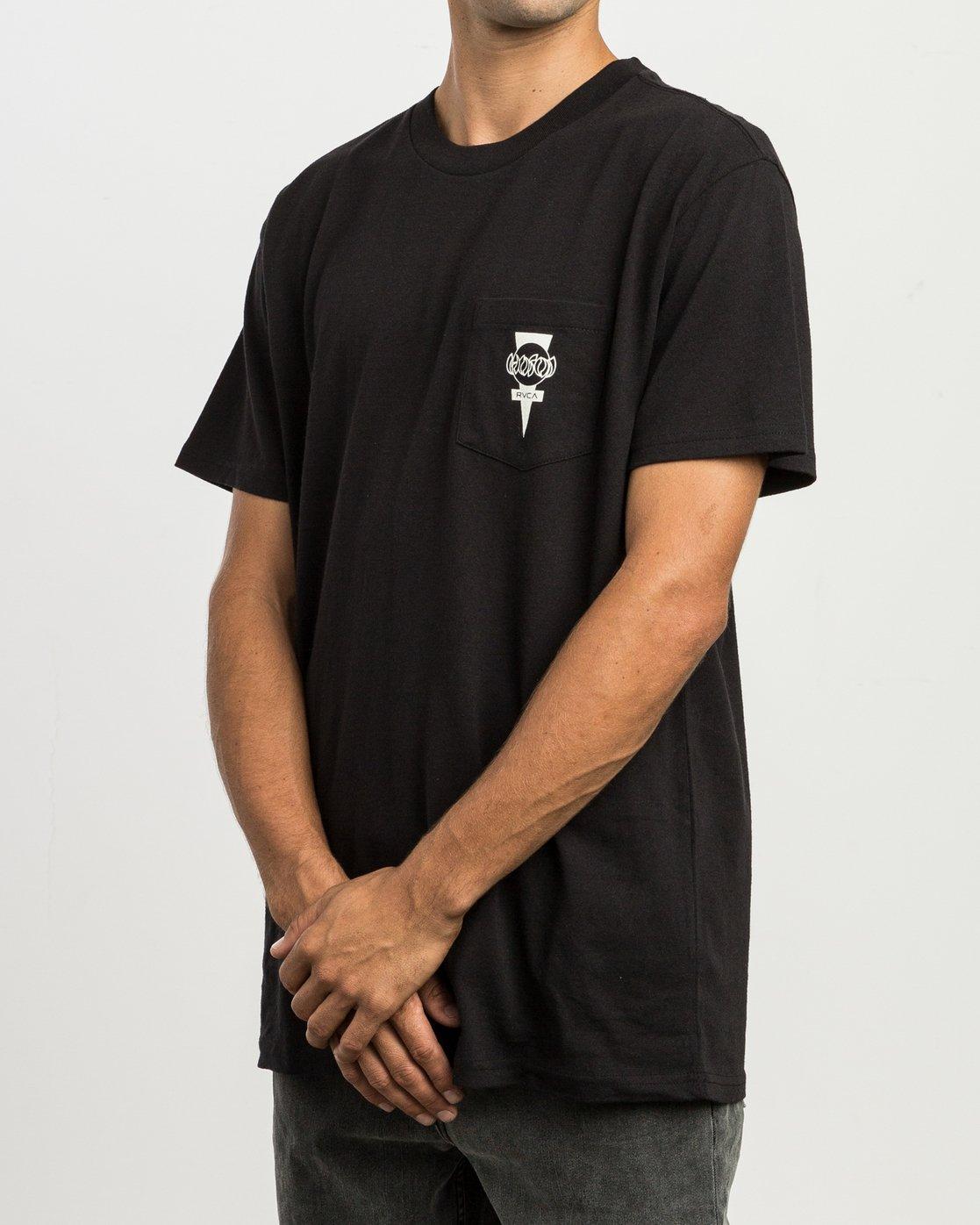 3 Christian Hosoi Dayshift Pocket T-Shirt Black M414SRHS RVCA